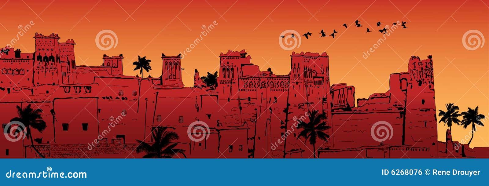 AIT-Benhaddou en Marruecos