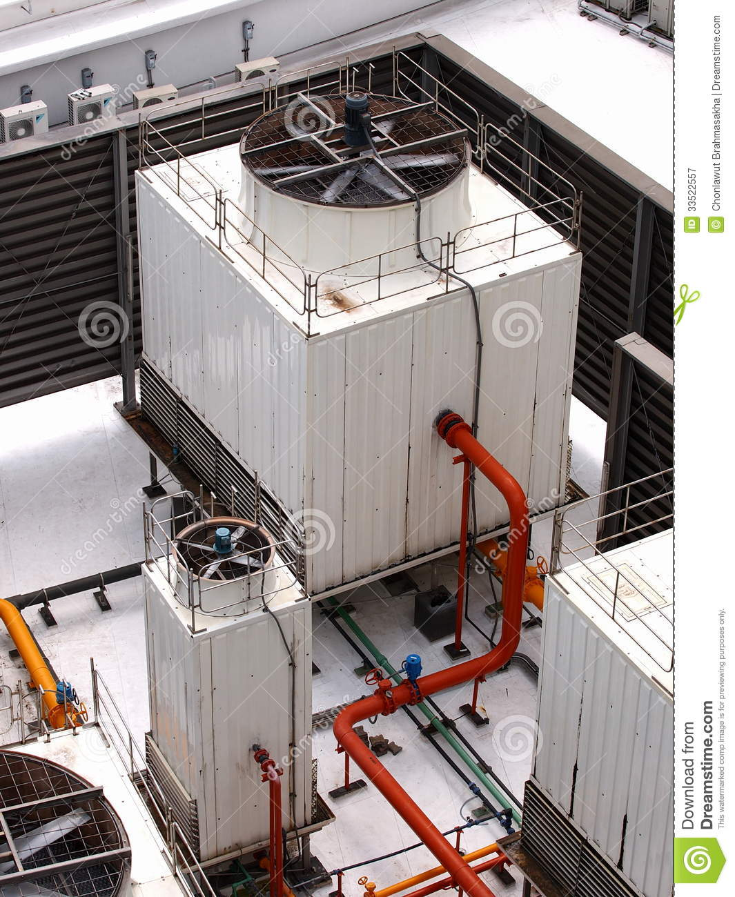 unit of a central air conditioning systems of a large office building  #AF391C
