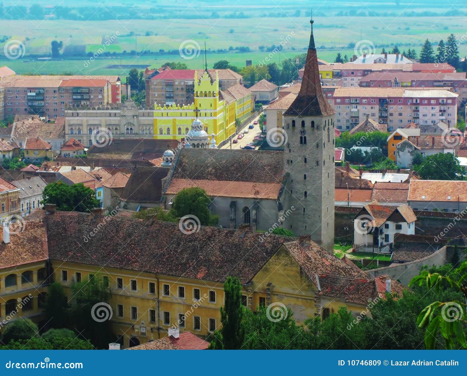 Aiud Citadel Transilvania Romania Aerial View Royalty Free