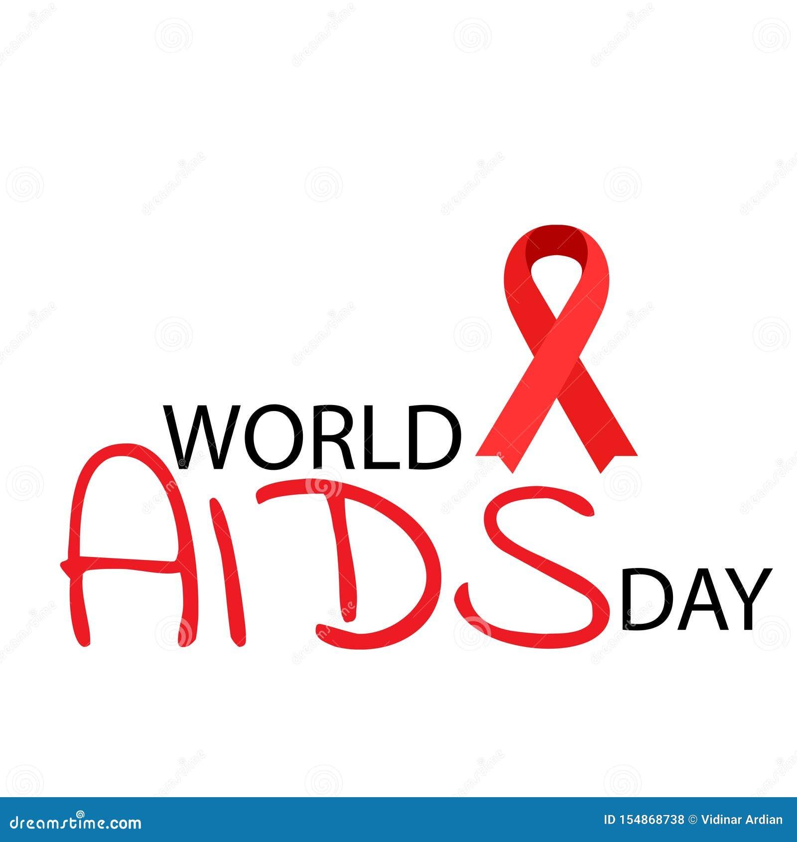 Aiuta il nastro di colore rosso di consapevolezza Concetto di Giornata mondiale contro l AIDS Illustrazione