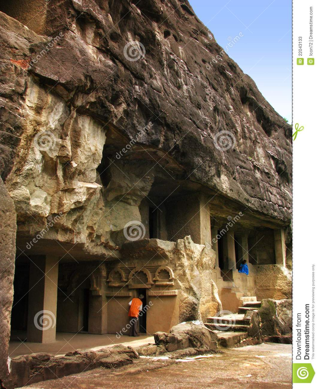 Ajanta, India: Amazing Ancient Buddhist Temples Stock ...