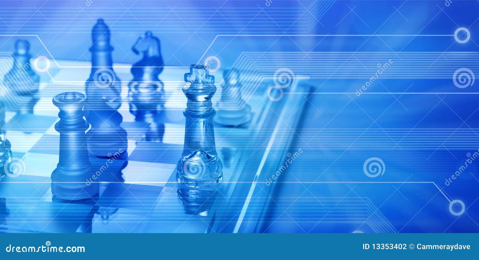 Ajedrez en línea de la estrategia empresarial del ordenador