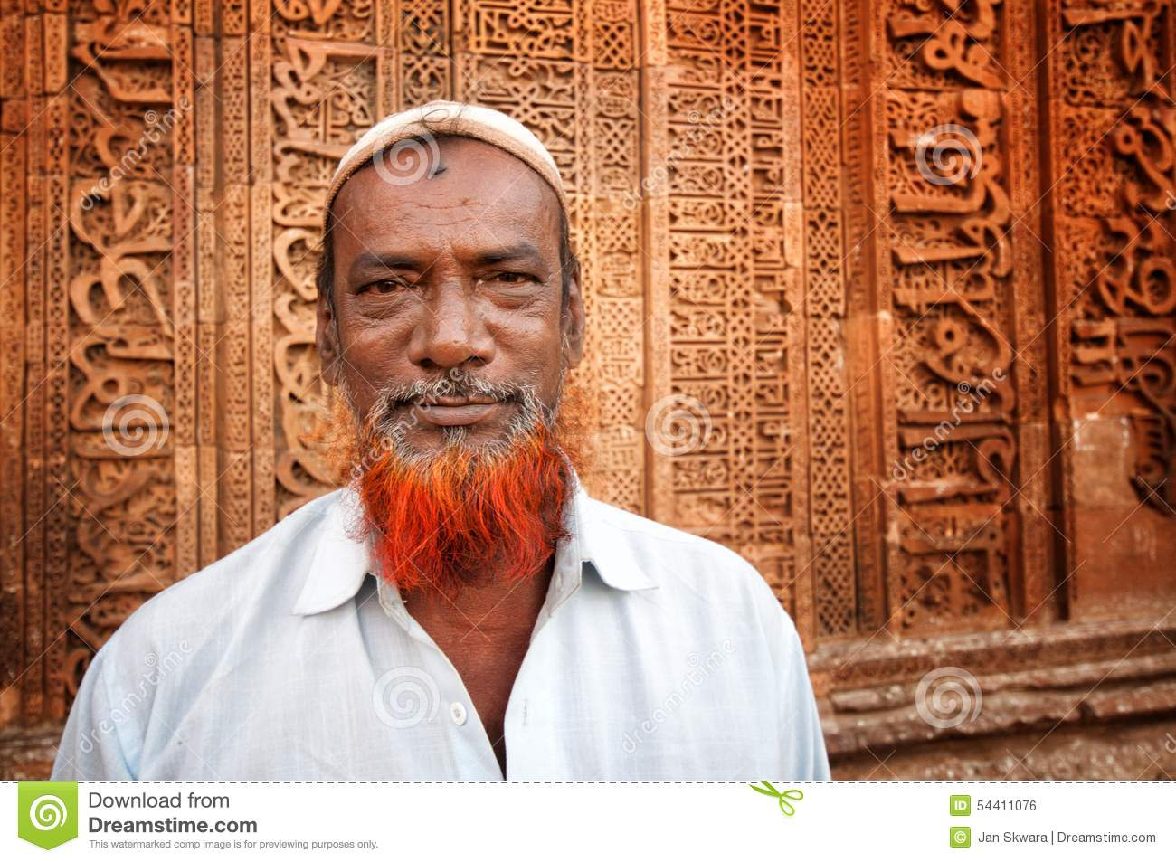 Ajmer India  city photos : AJMER, INDIA APRIL 06, 2013: Undefined indian man with red beard in ...
