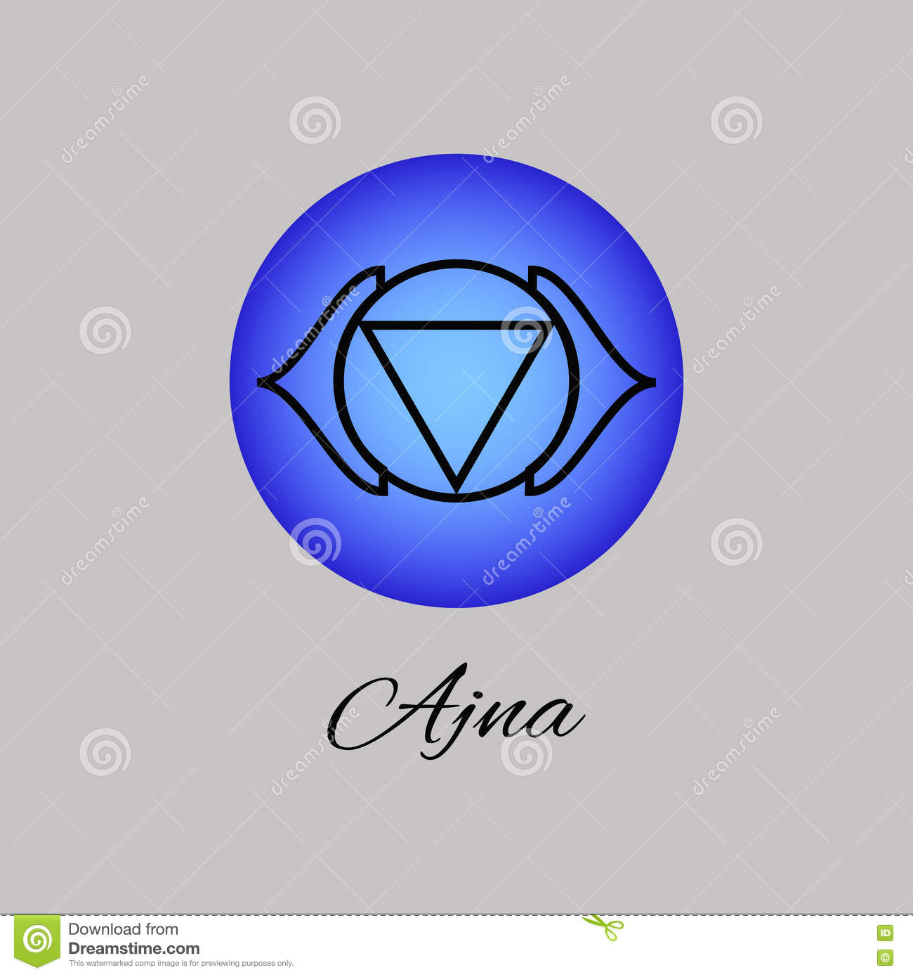 Ajna Third Eye Chakra Sixth Chakra Symbol Of Human Stock