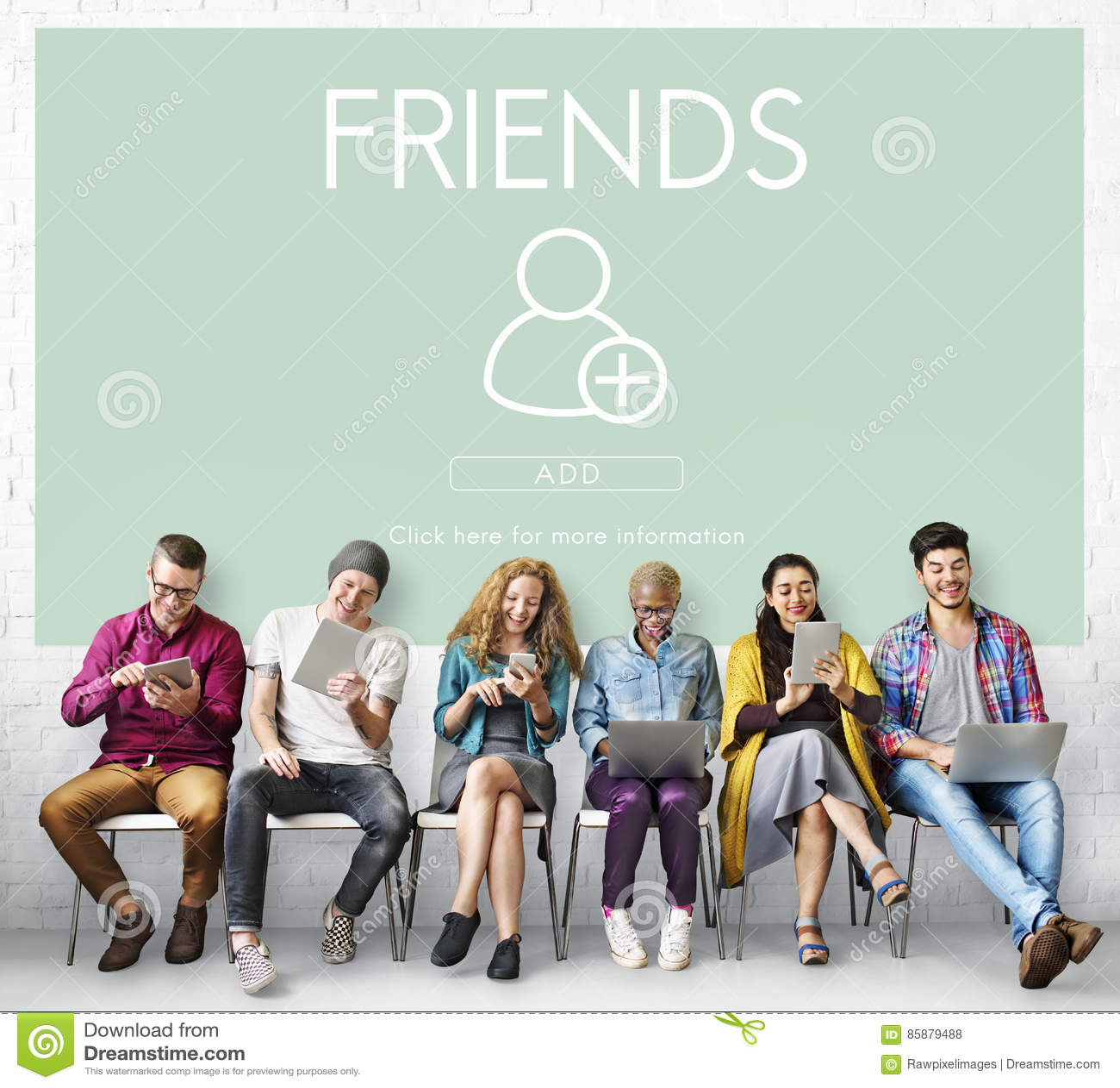 Ajoutez le concept social de graphique de media d amis