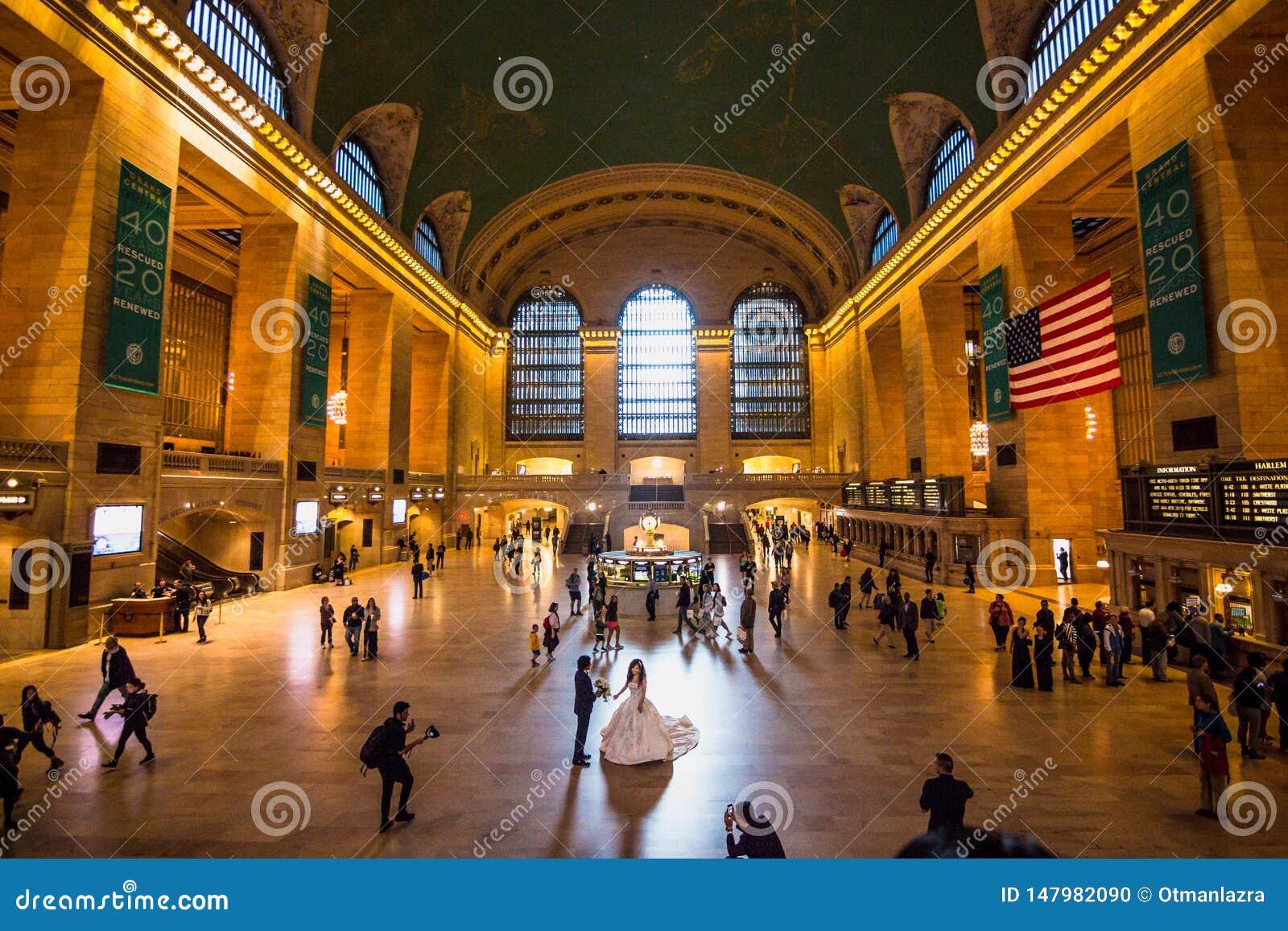 Ajuntamento principal no terminal histórico de Grand Central