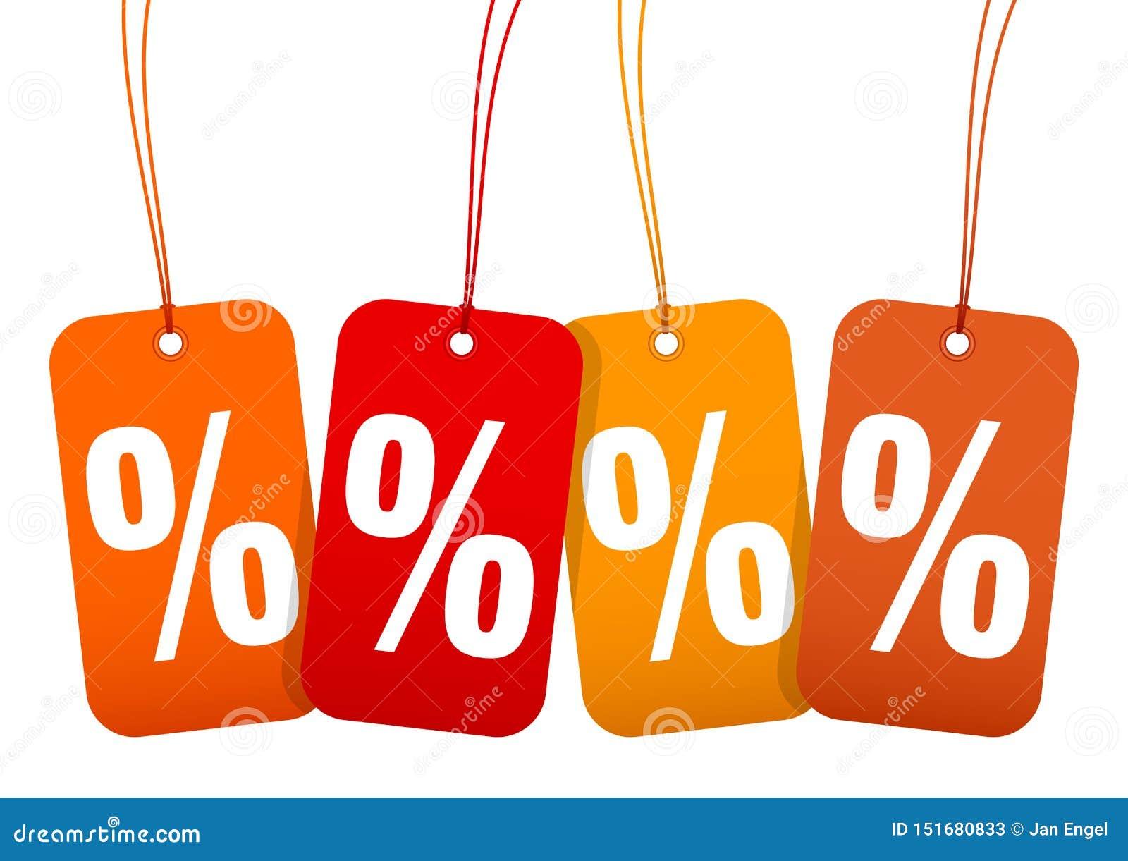 Ajustado quatro por cento Autumn Brown Und Orange da venda dos Hangtags