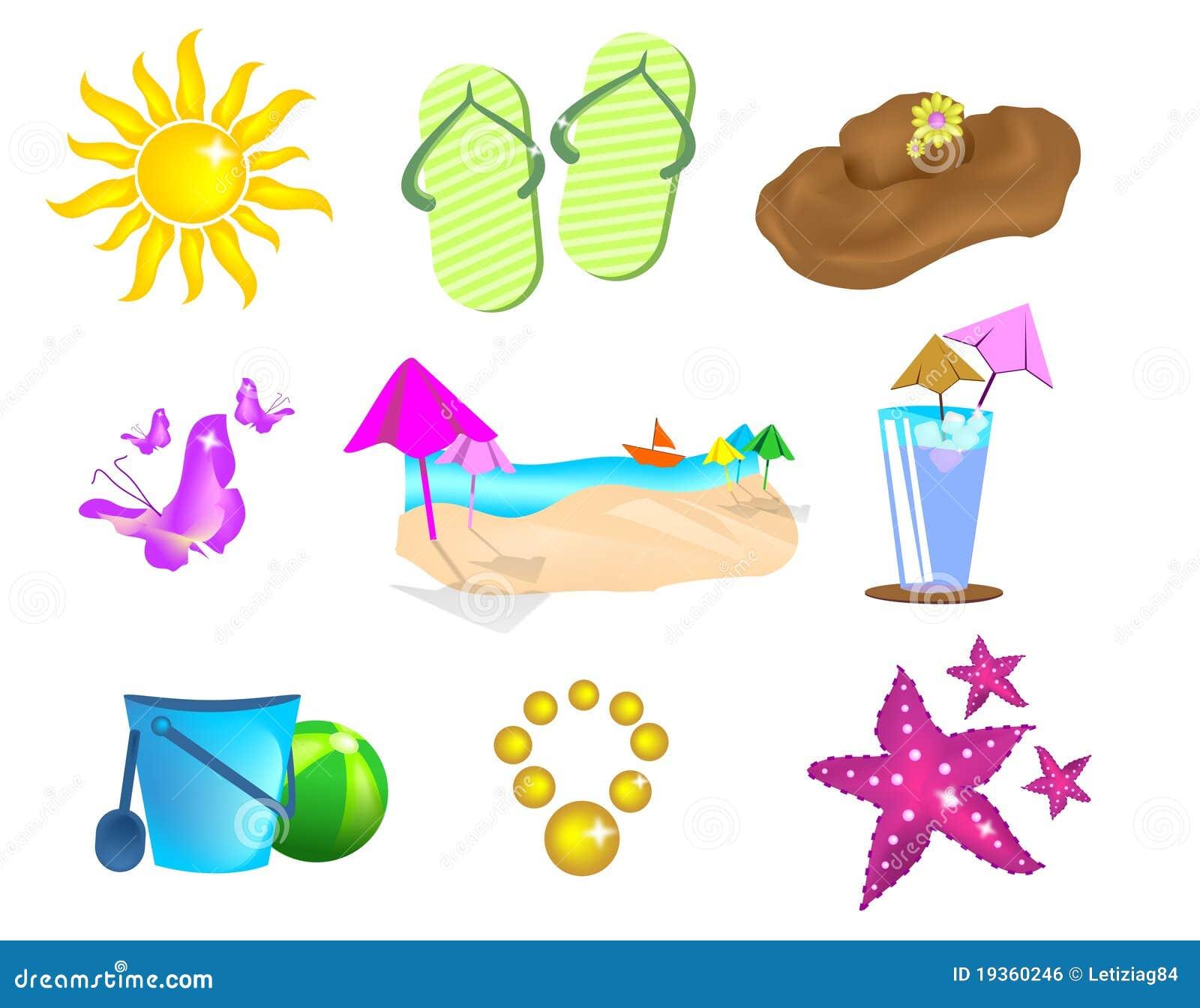 Ajuste ícones do verão
