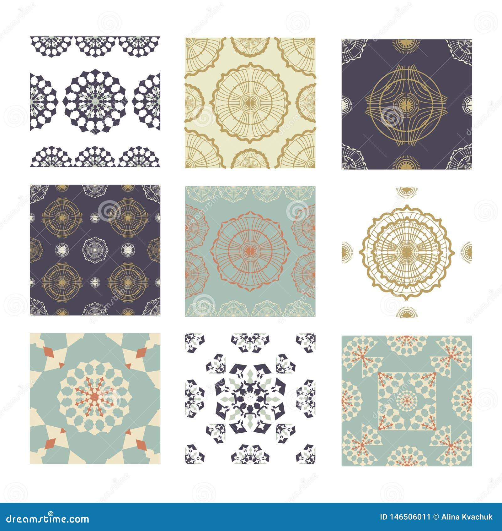 Ajuste da decoração cerâmica sem emenda com retalhos coloridos Teste padr?o multicolorido do vintage Pode ser usado para o azulej