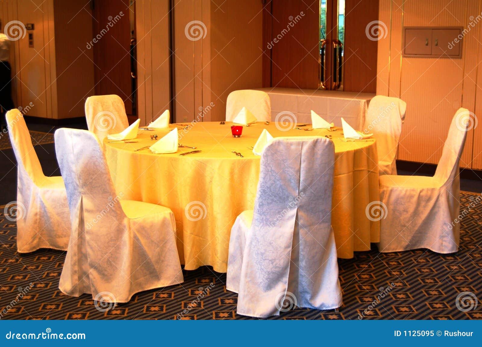 Ajuste da tabela de banquete