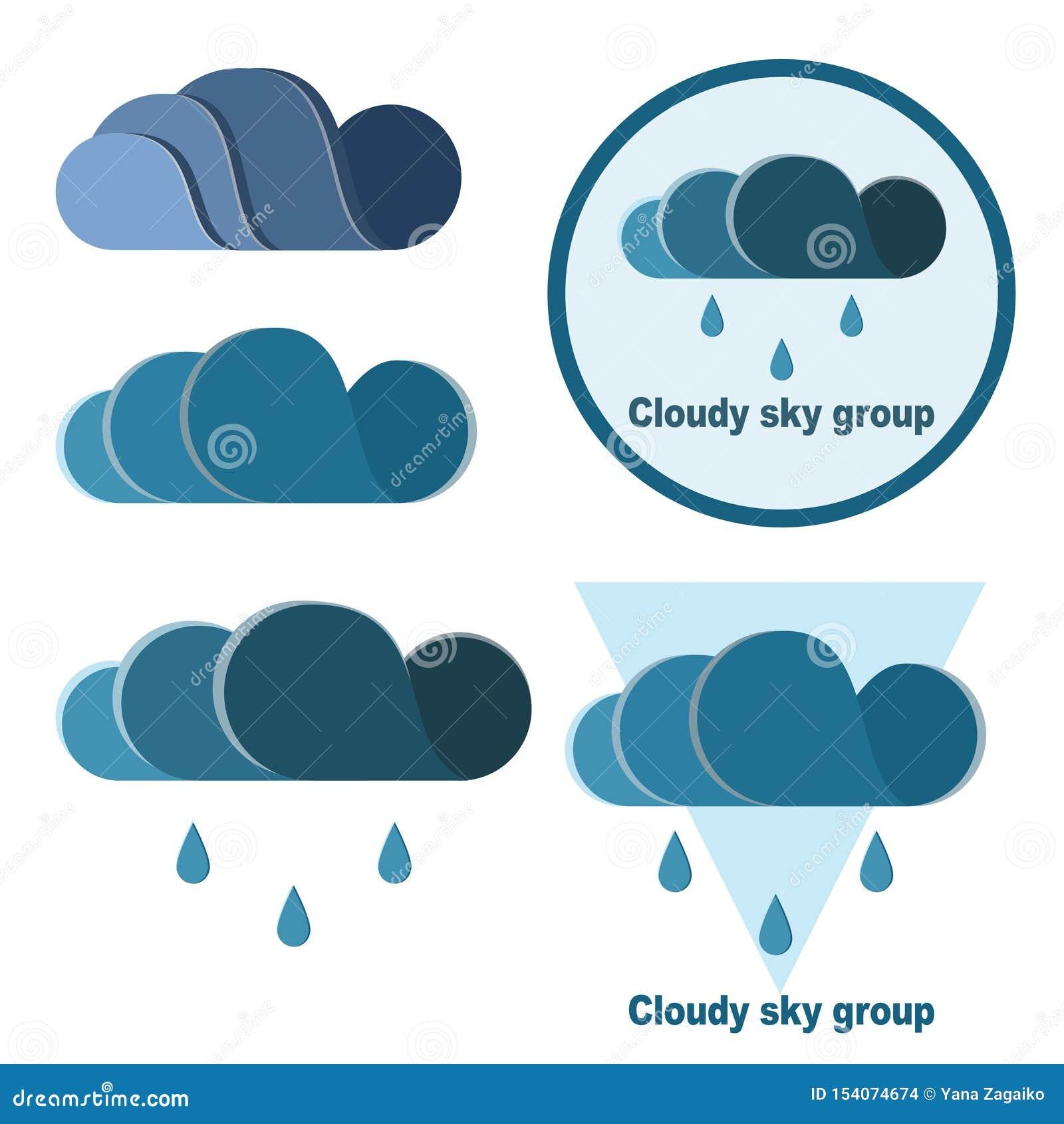 Ajuste das nuvens e das gotas para seu próprio logotipo
