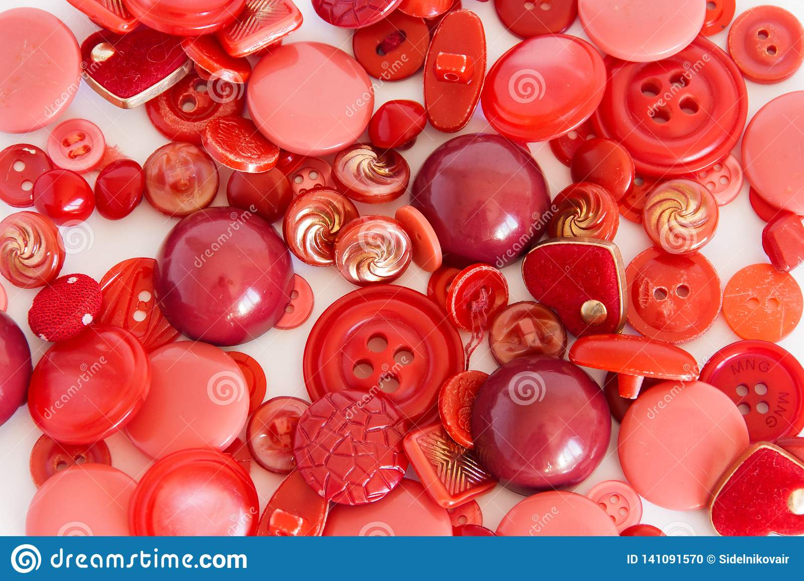 Ajuste de costurar a cor vermelha dos botões Fundo