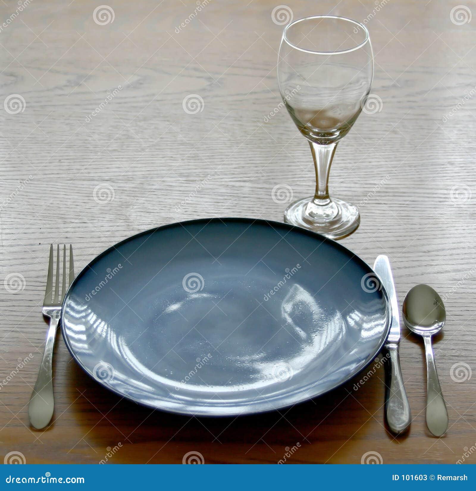 Ajuste de lugar dos pratos