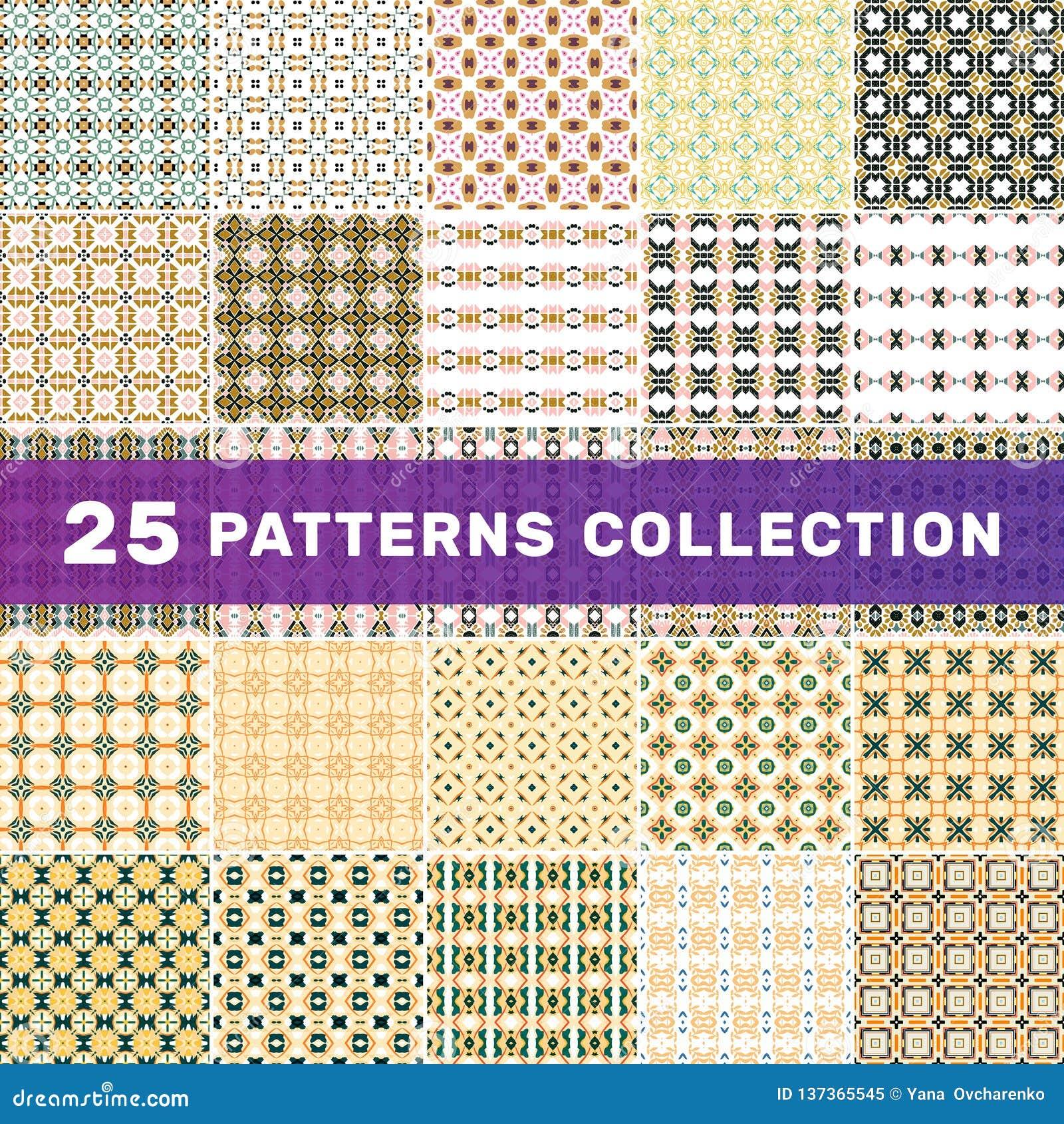 Ajuste de 25 testes padrões abstratos geométricos