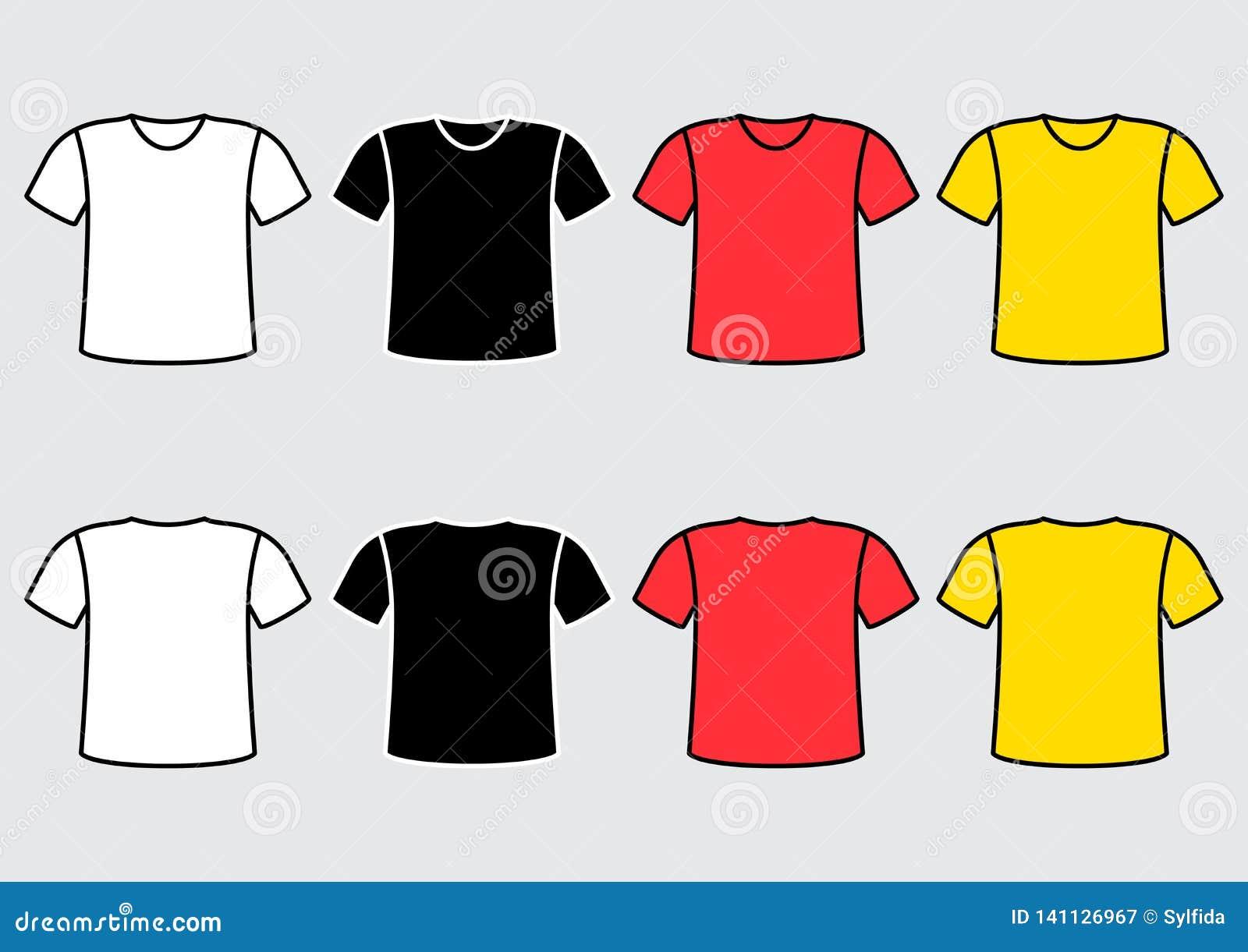 Ajuste do t-shirt colorido Ilustração do vetor
