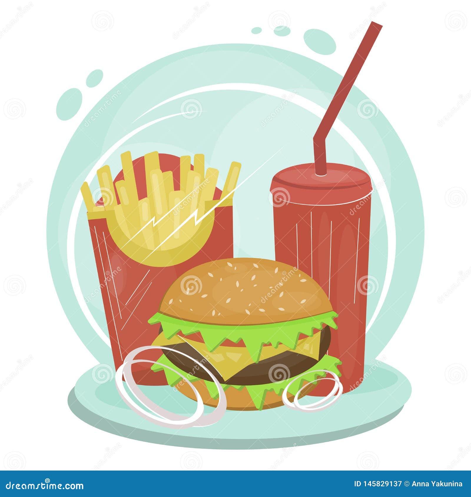 Ajuste dos artigos de comida lixo lisos