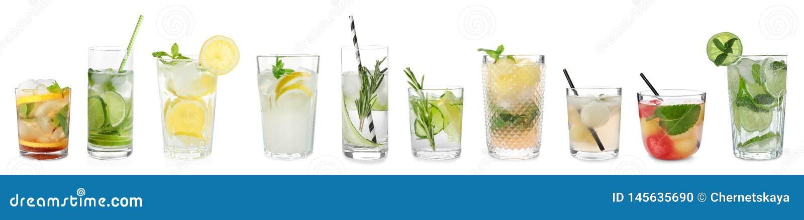Ajuste dos cocktail deliciosos diferentes