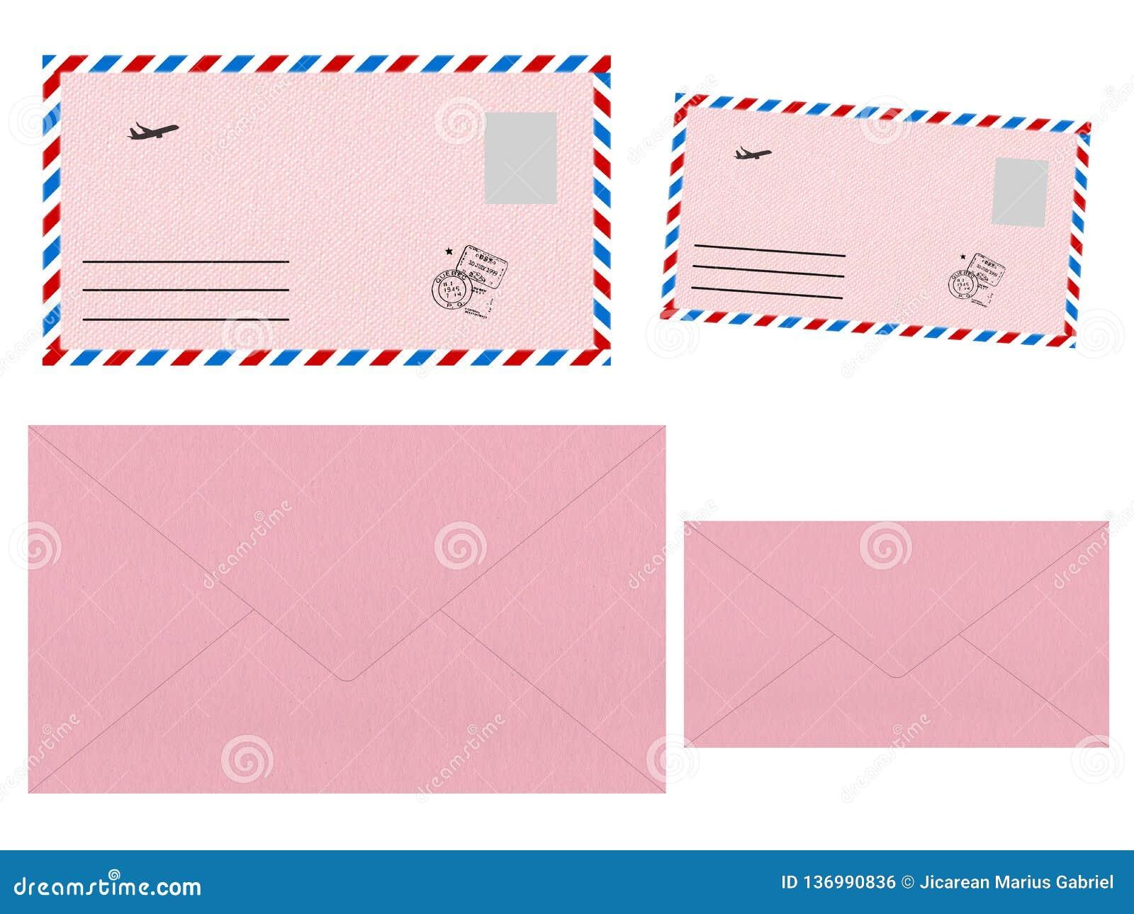 Ajuste dos envelopes cor-de-rosa