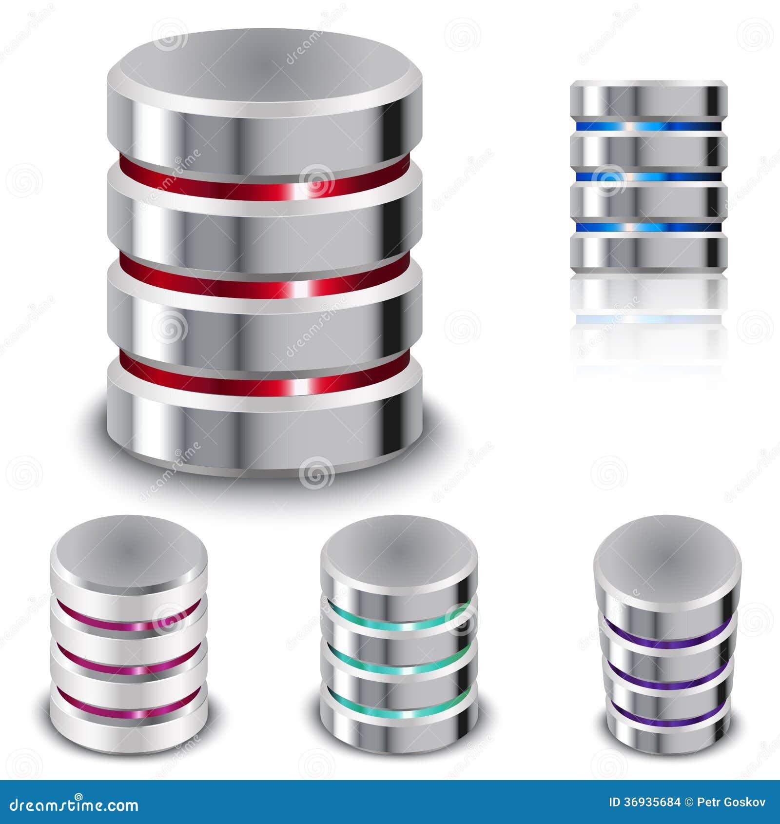 Ajuste o base de dados e o ícone do disco rígido