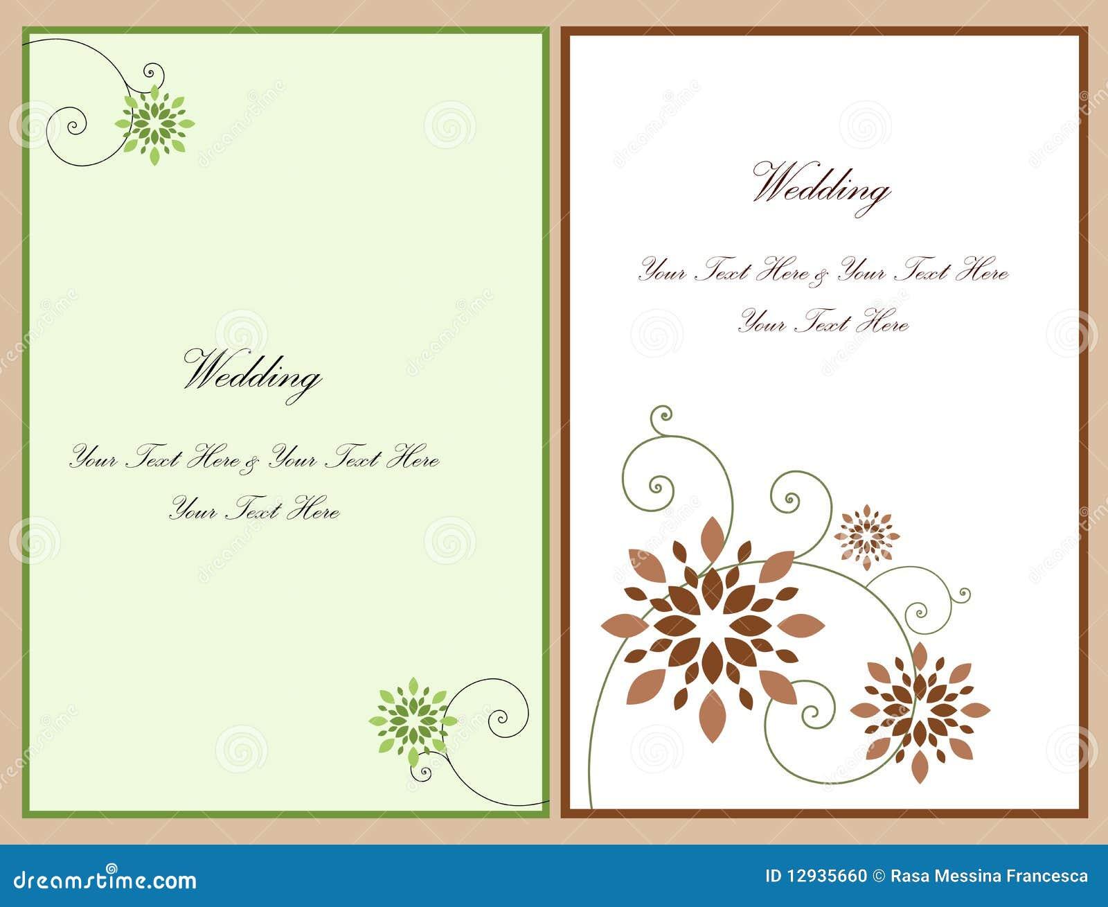 Ajuste o cartão 4 do convite do casamento