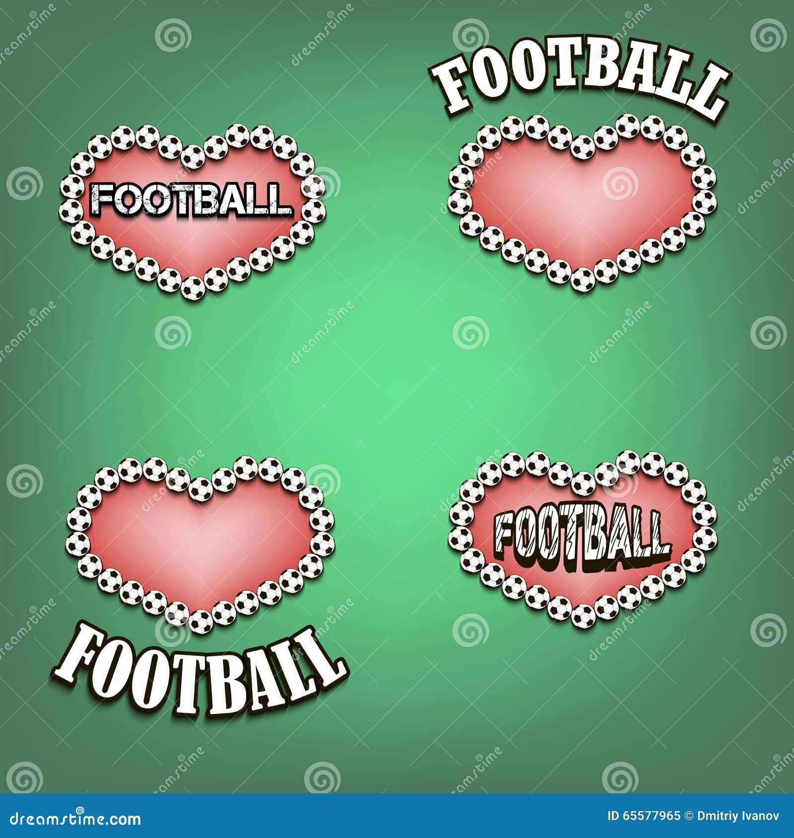 Ajuste o coração do bal do futebol