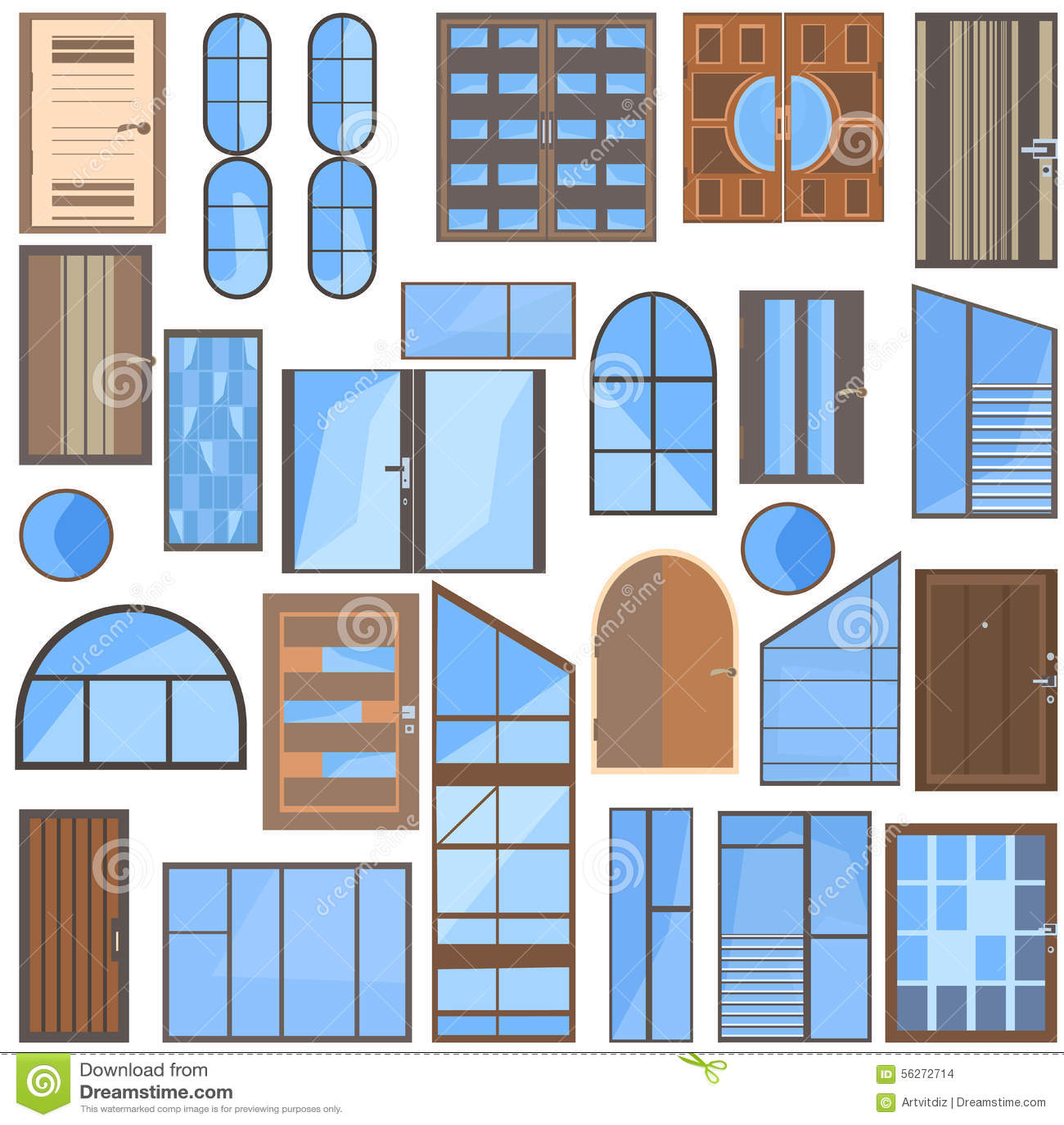 #0966C2 modernos vidro liso plástico janelas do metal plástico e portas de  238 Janelas De Vidro Para Sketchup