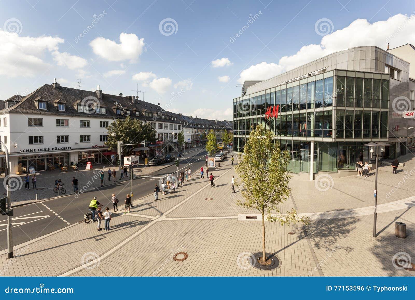 Ajustez dans la ville de Siegen, Allemagne