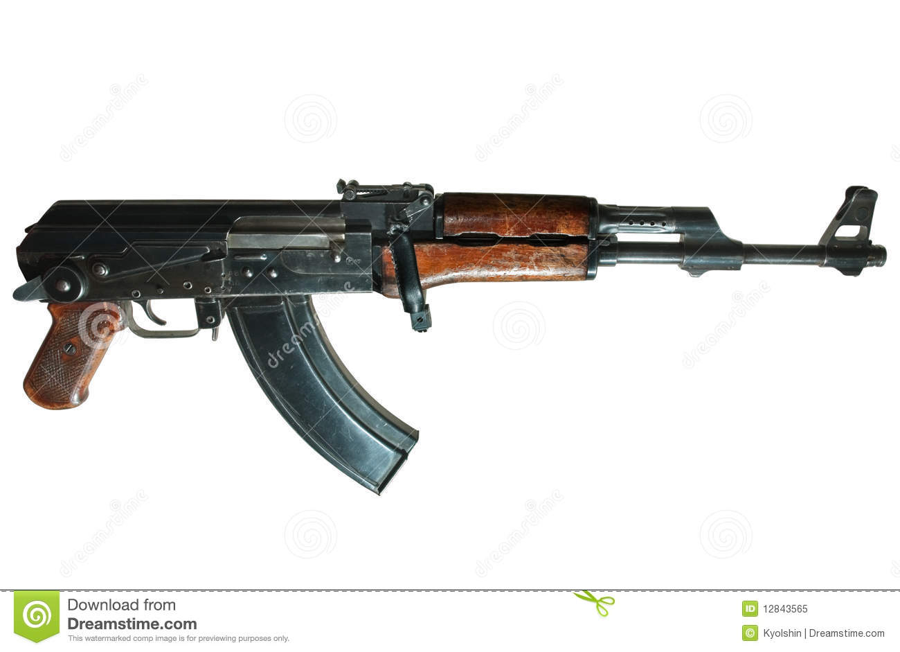 Ak-47 Machine Gun Royalty Free Stock Photo - Image: 12843565