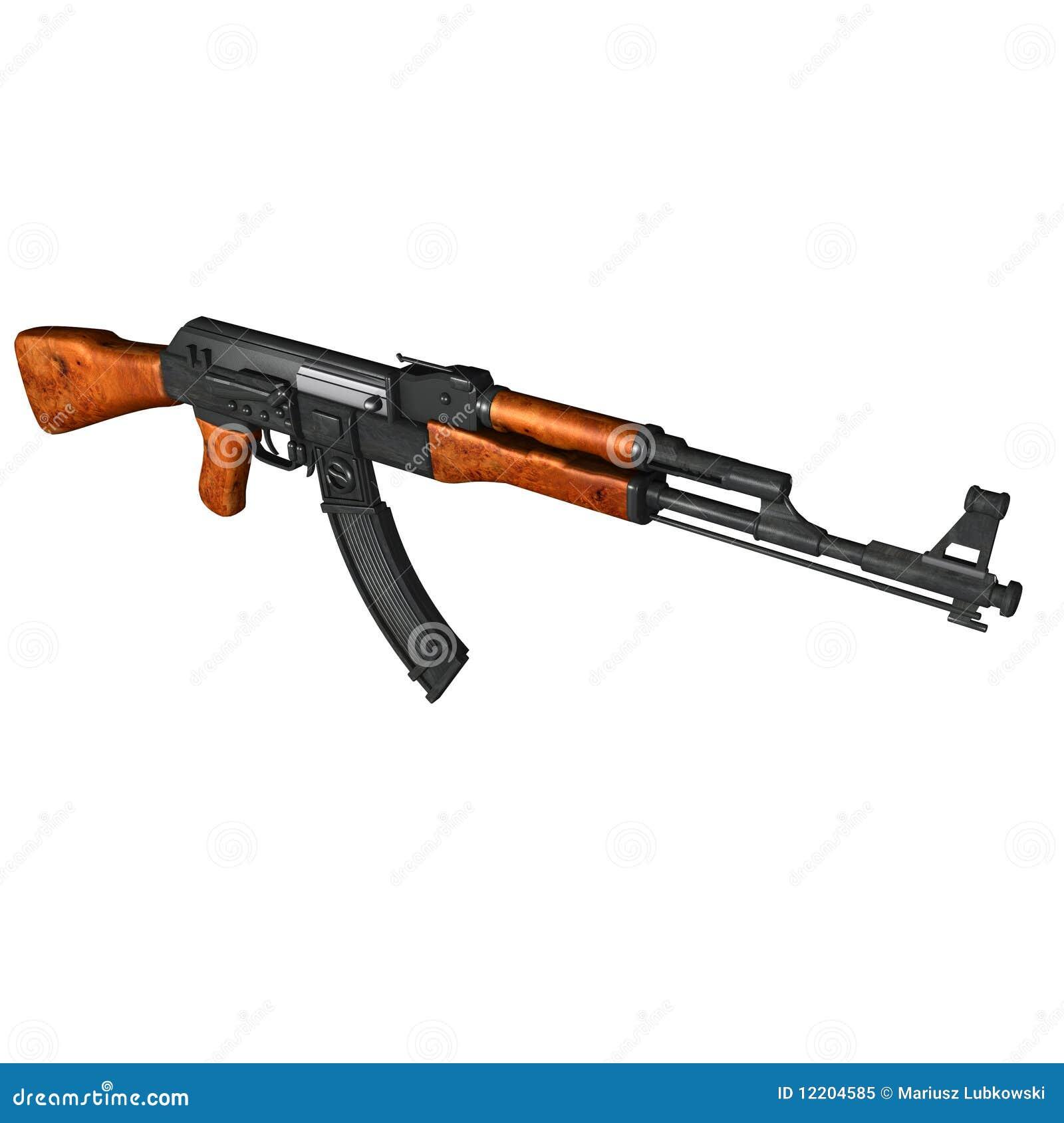 ak47 kalashnikov assault rifle stock image image 12204585