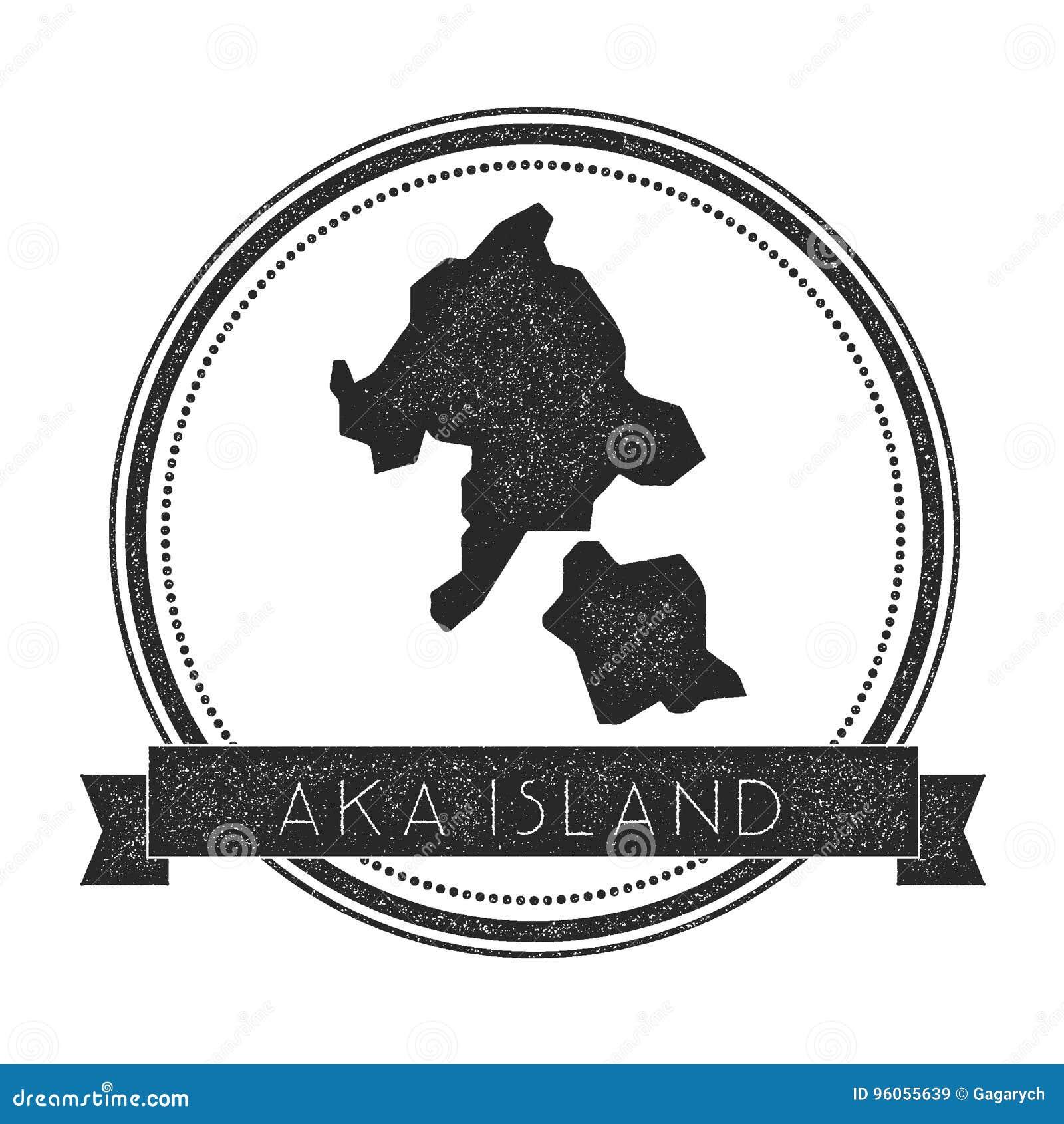 Aka timbre de carte d île
