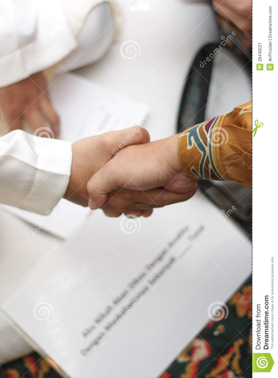 Akad Nikah (marriage Contract) Stock Image - Image of