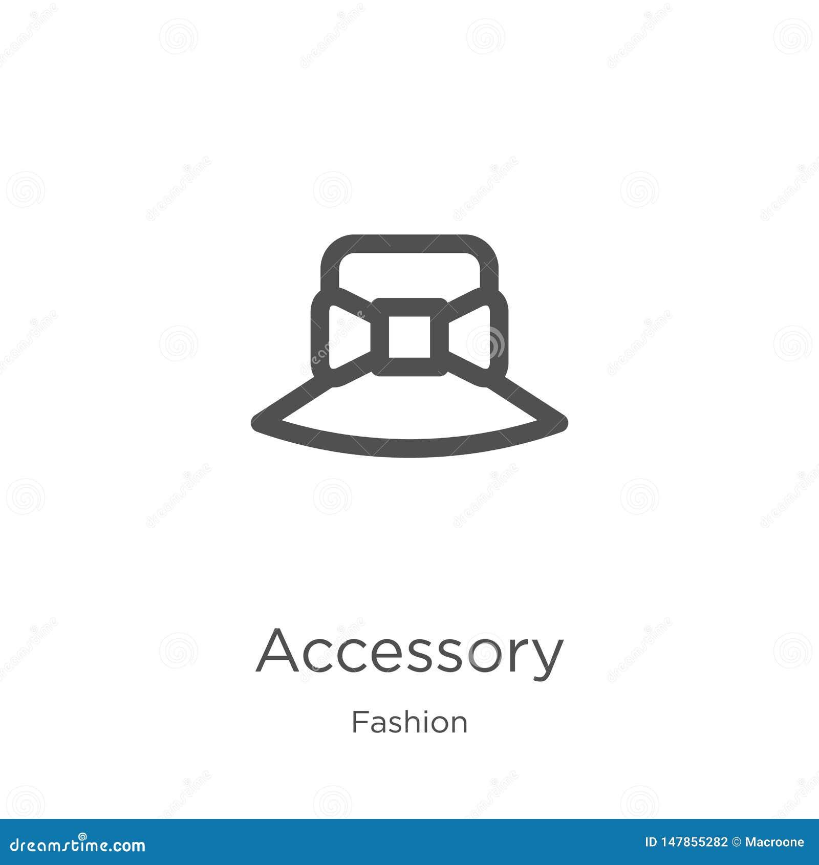 Akcesoryjny ikona wektor od mody kolekcji Cienka kreskowa akcesoryjna kontur ikony wektoru ilustracja Kontur, cienieje kreskowego
