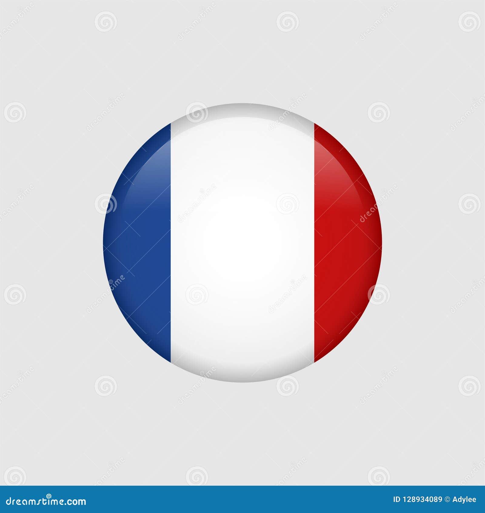 Akcyjna wektorowa Francja flaga 5