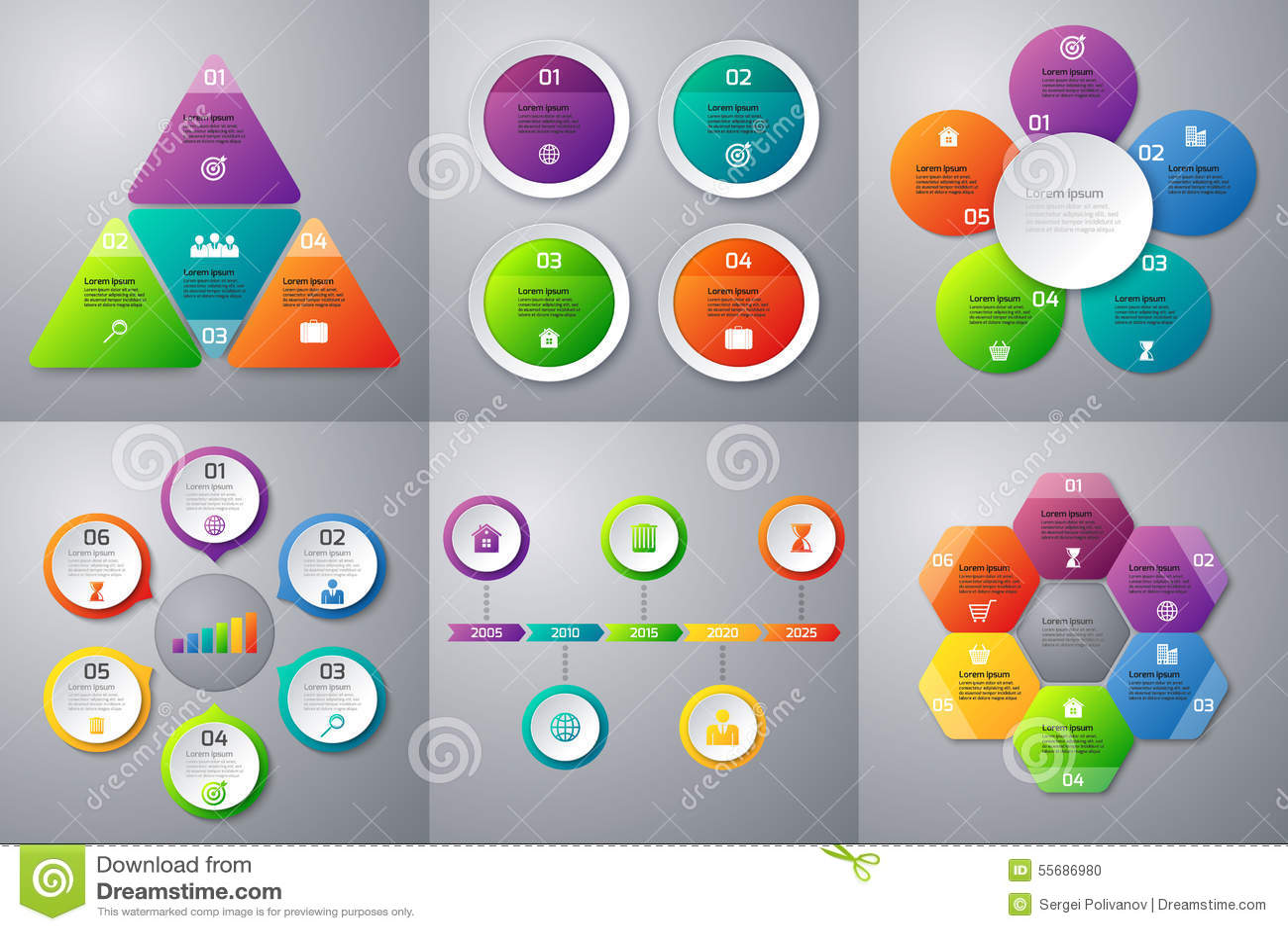 Akcyjny Wektorowy ustawiający infographics