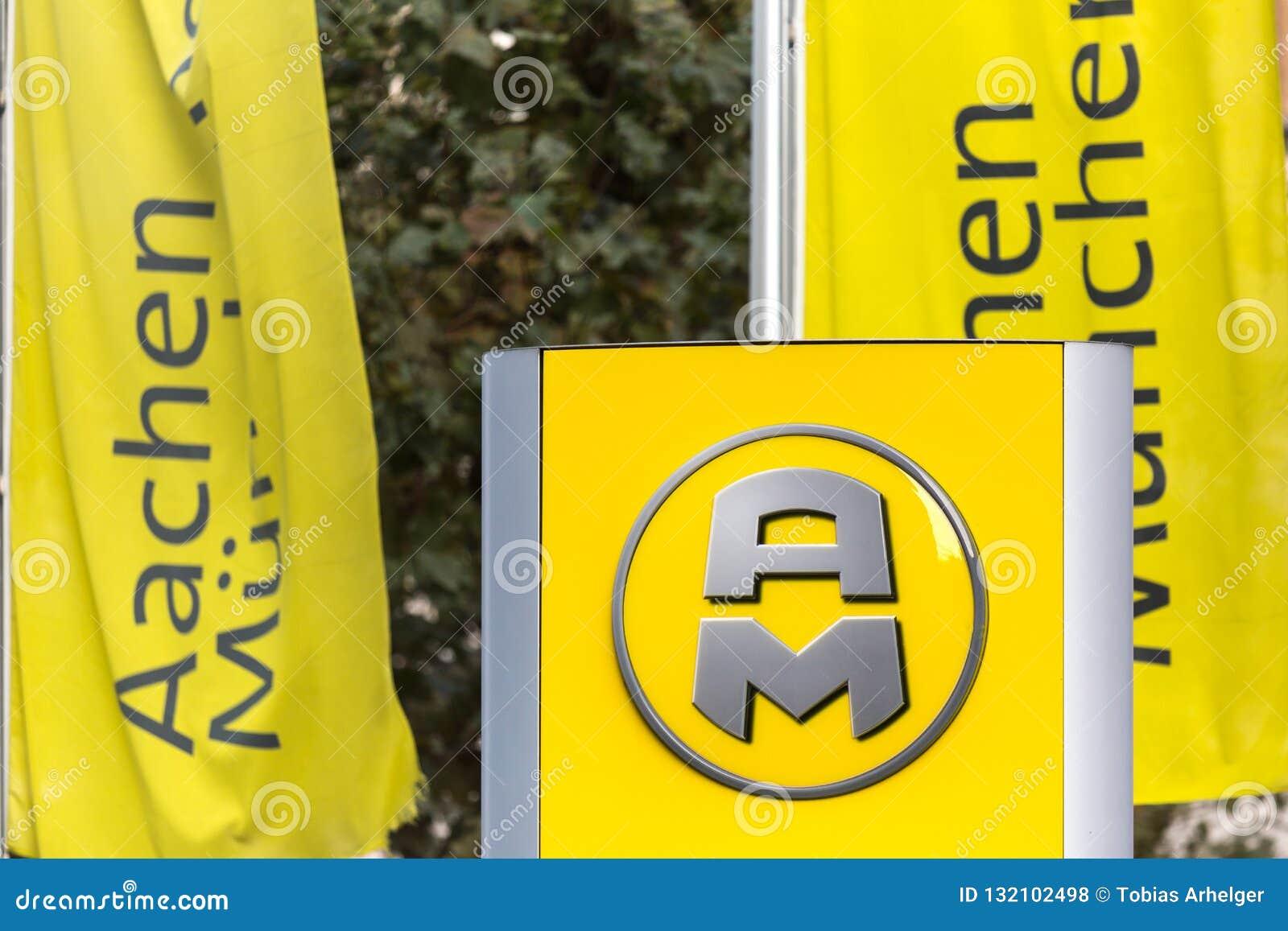 Aken, Noordrijn-Westfalen/Duitsland - 06 11 18: aachener nchener teken mà ¼ in Aken Duitsland