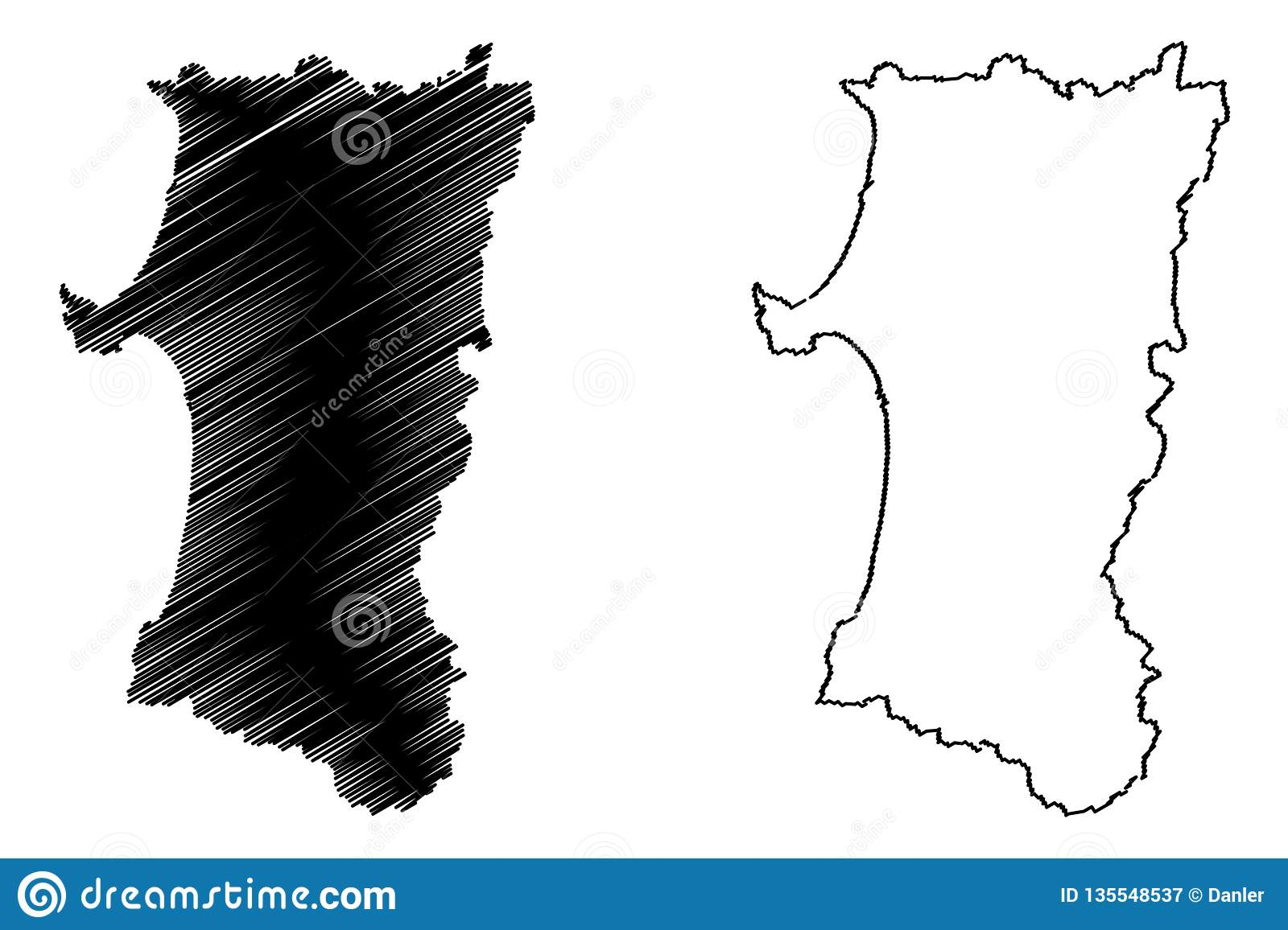 Picture of: Akita Prefecture Map Vector Stock Vector Illustration Of Monarchy Outline 135548537