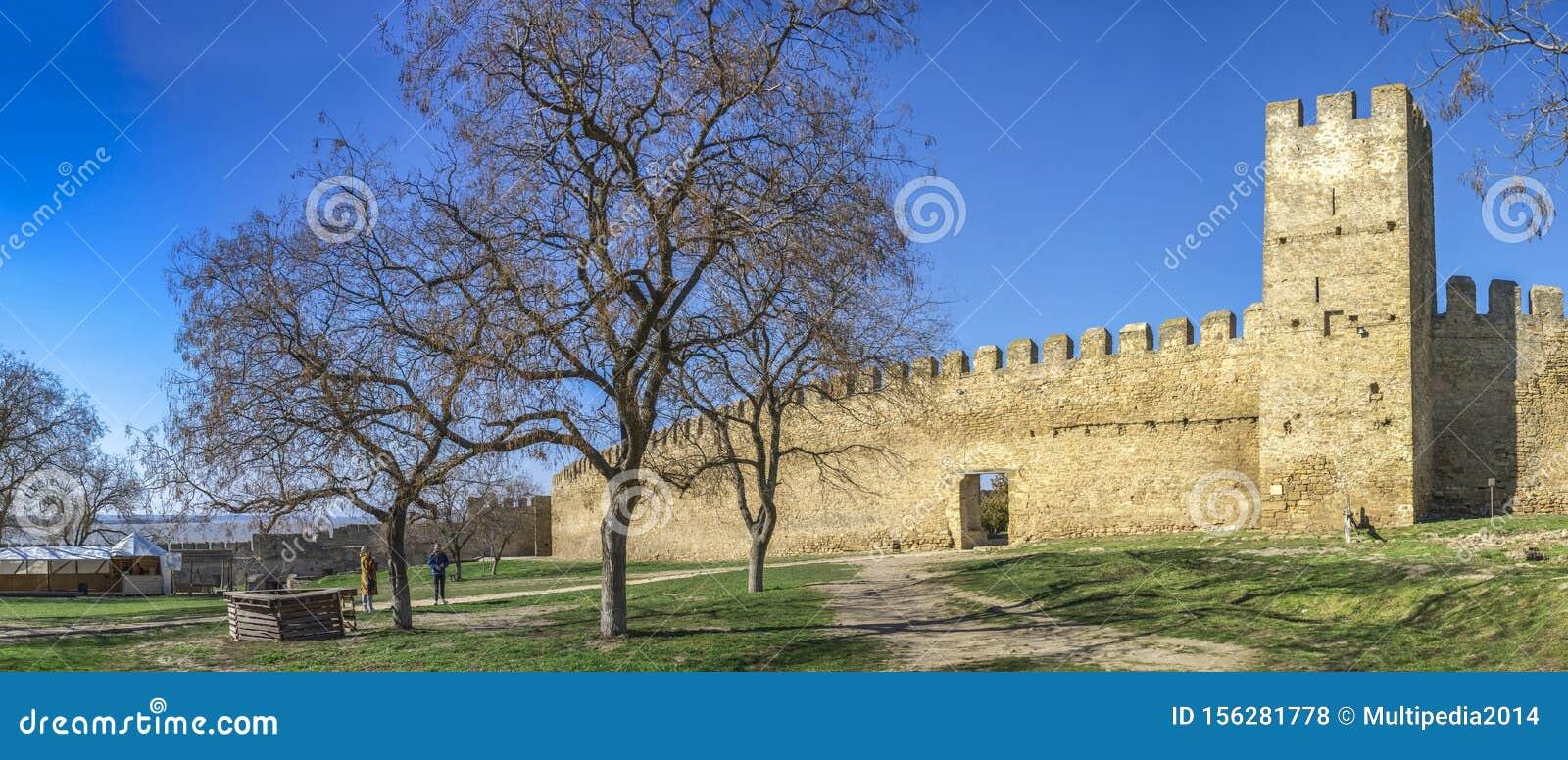 Akkerman城堡的堡垒墙壁在乌克兰