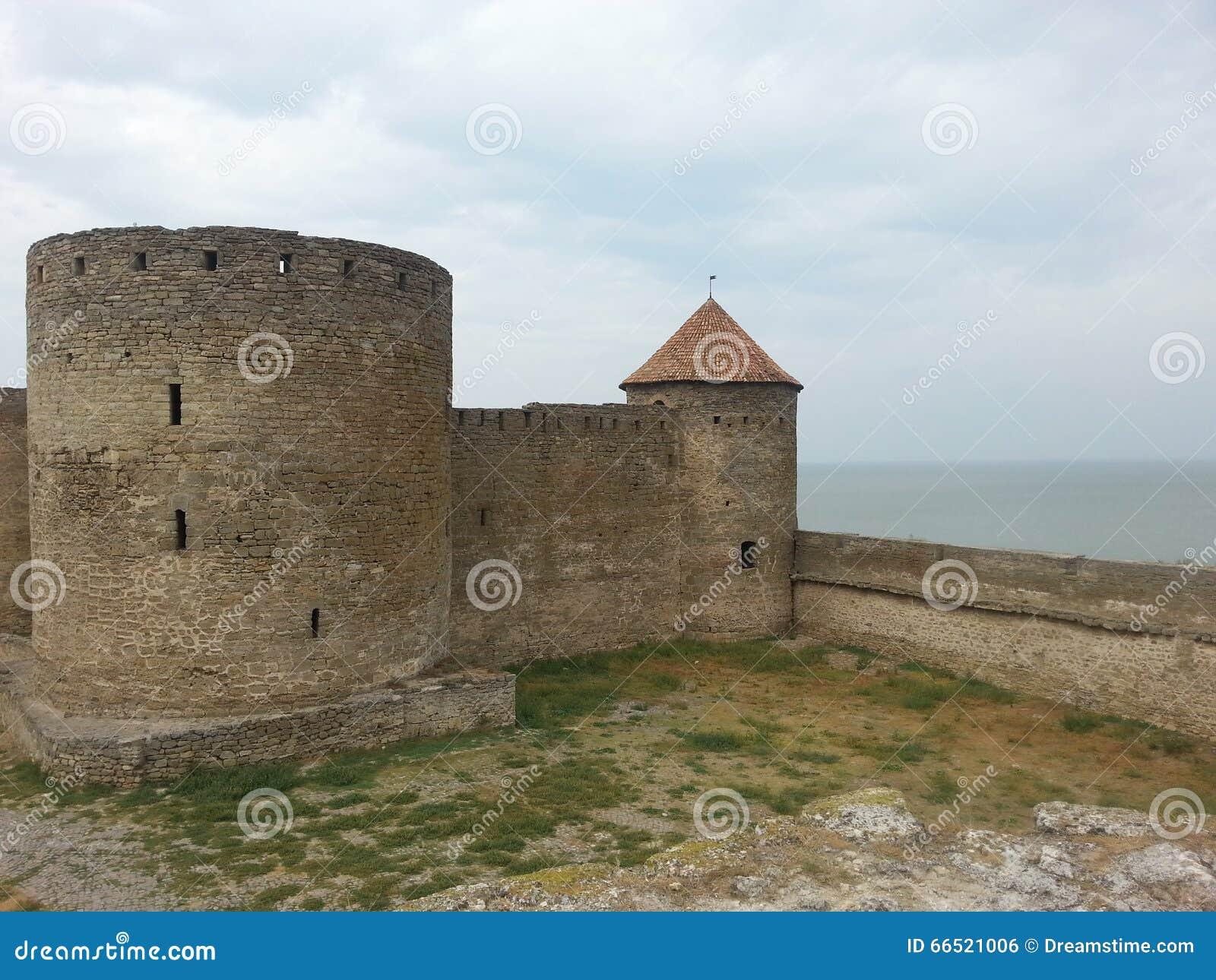 Akkerman Turm Und Ein Wall Stockfoto Bild Von Gras Rampart 66521006