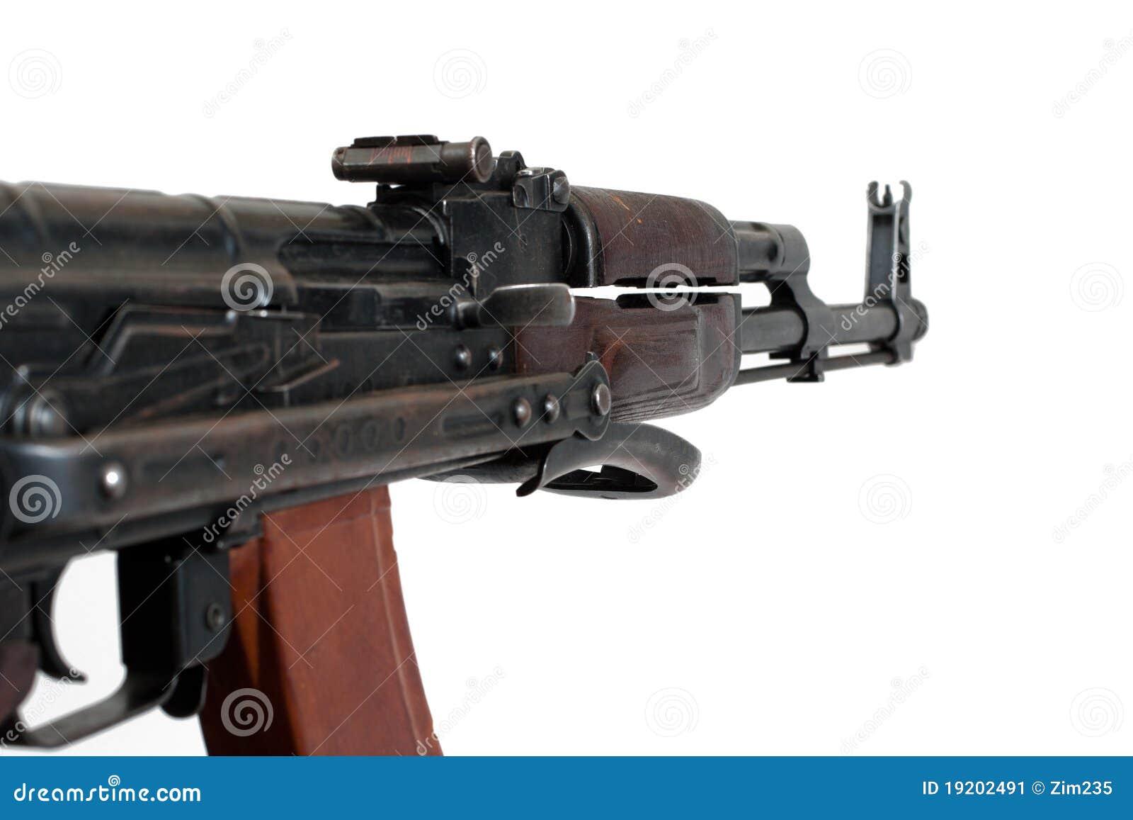 AKMS airborn version of Kalashnikov assault rifle