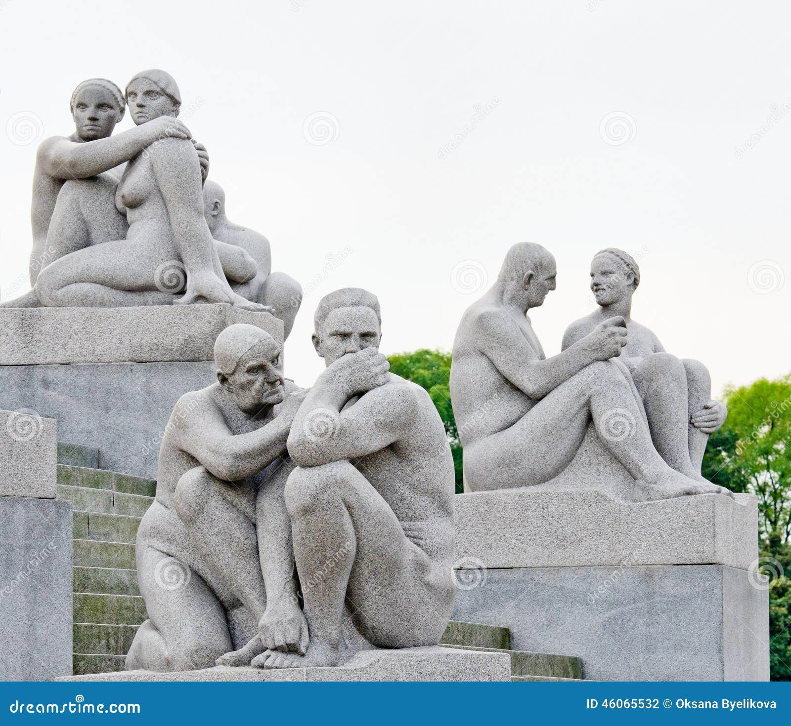80 212 akrów brązowieją pokrywy tworzącego cech granitowego Gustav Norway Oslo parkowego rzeźb statui vigeland