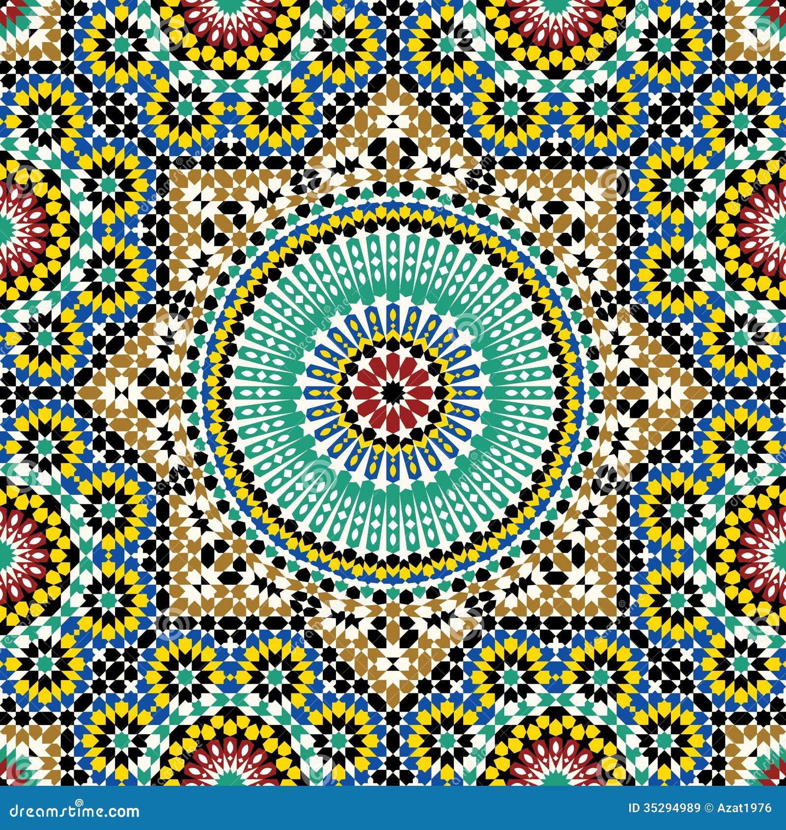 Traditional Arabic Design Seamless Pattern.
