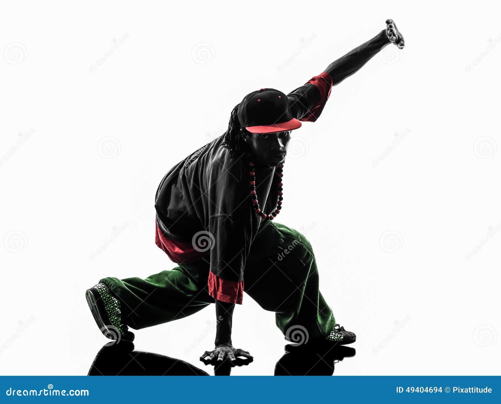 Download Akrobatischer Breakdancer Des Hip-Hop, Der Schattenbild Des Jungen Mannes Breakdancing Ist Stockfoto - Bild von studio, hüfte: 49404694