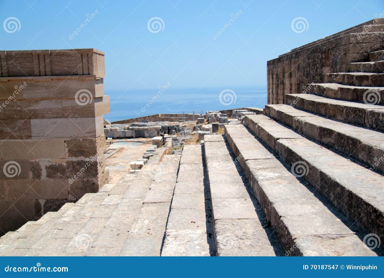 Akropolen på ön av Lindos