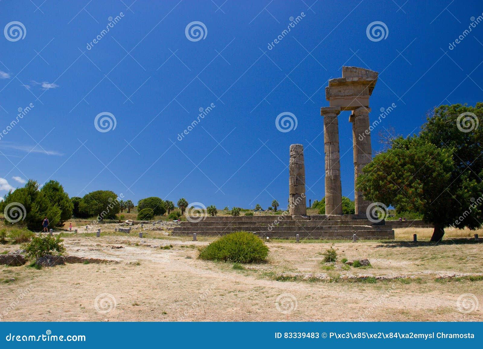 Akropolis of Rhodos historic buildings architecture
