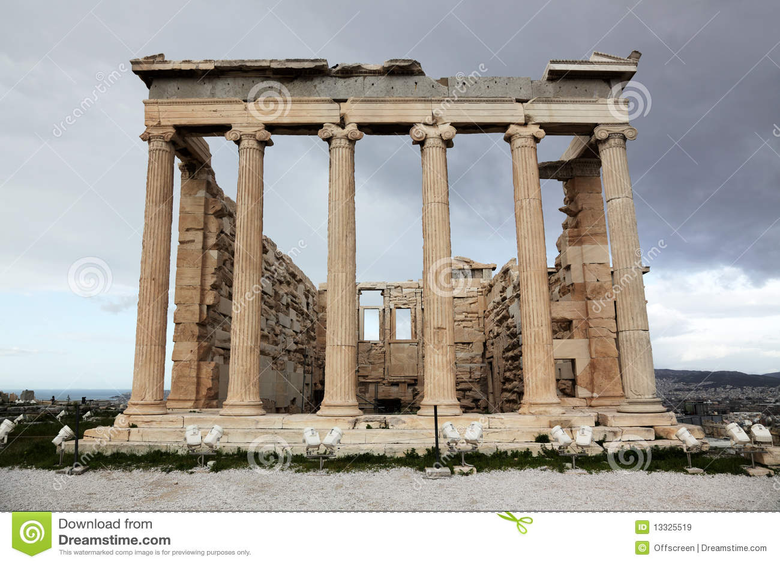 Akropolu antyczna erechtheum świątynia