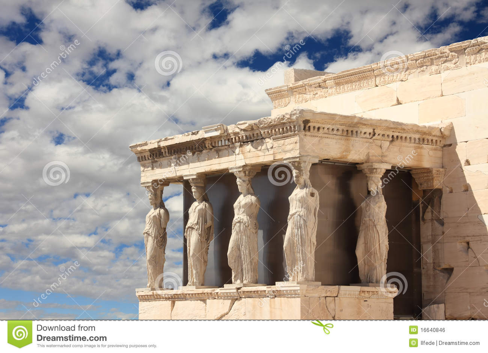 Akropolu Athens kariatydy Greece ganeczek