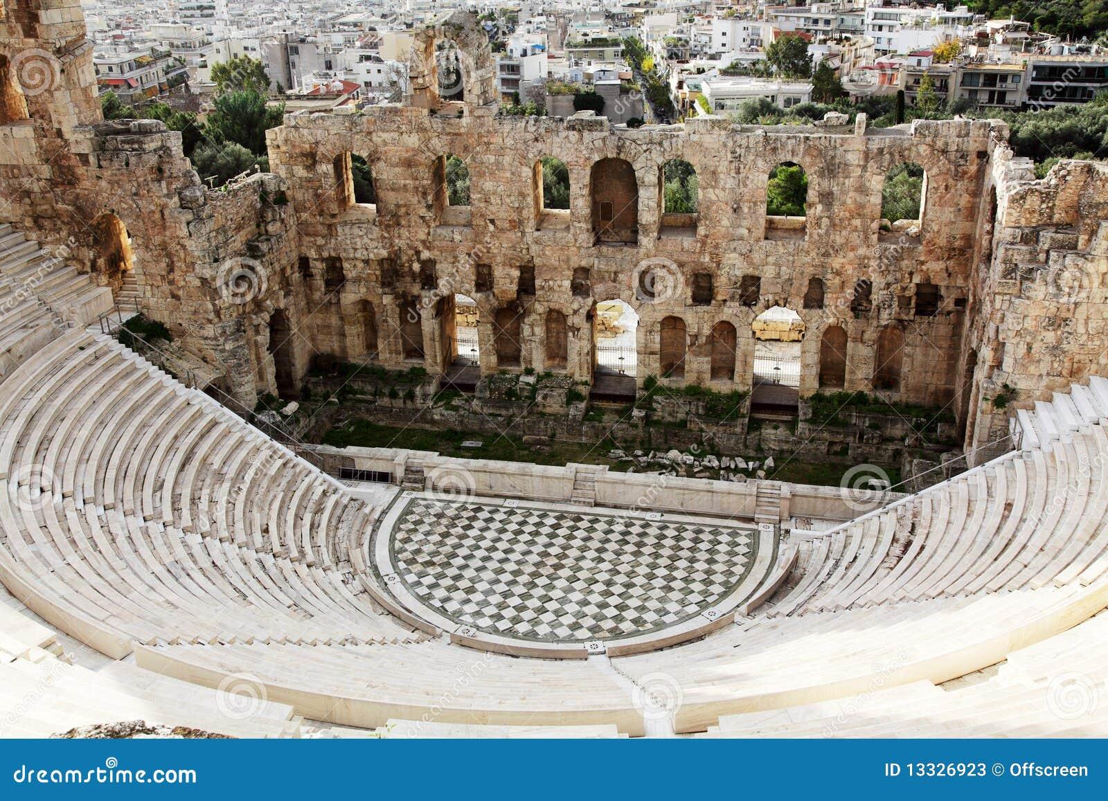 Akropolu atticus herodes odeon theatre