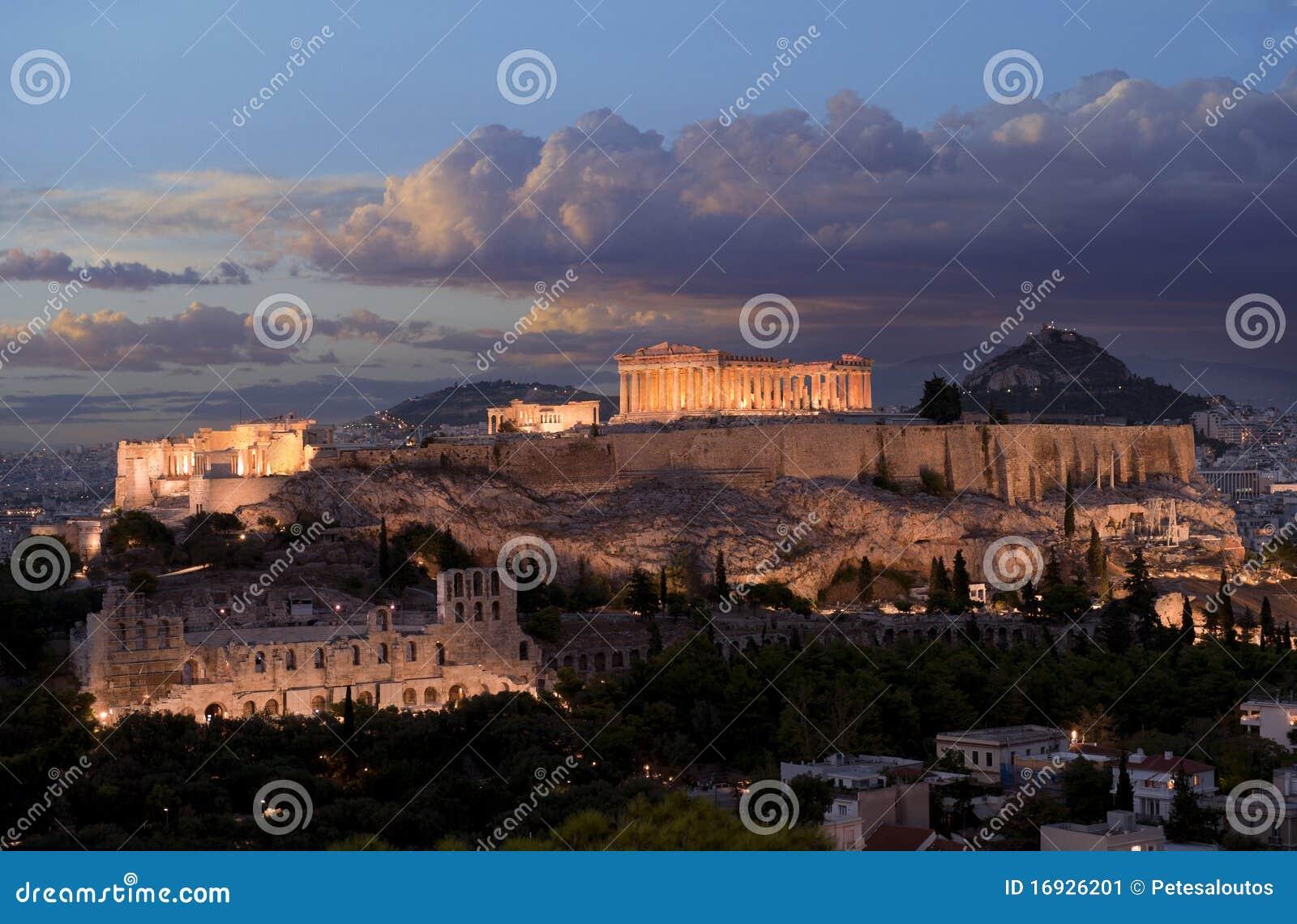 Akropolu Greece zabytek