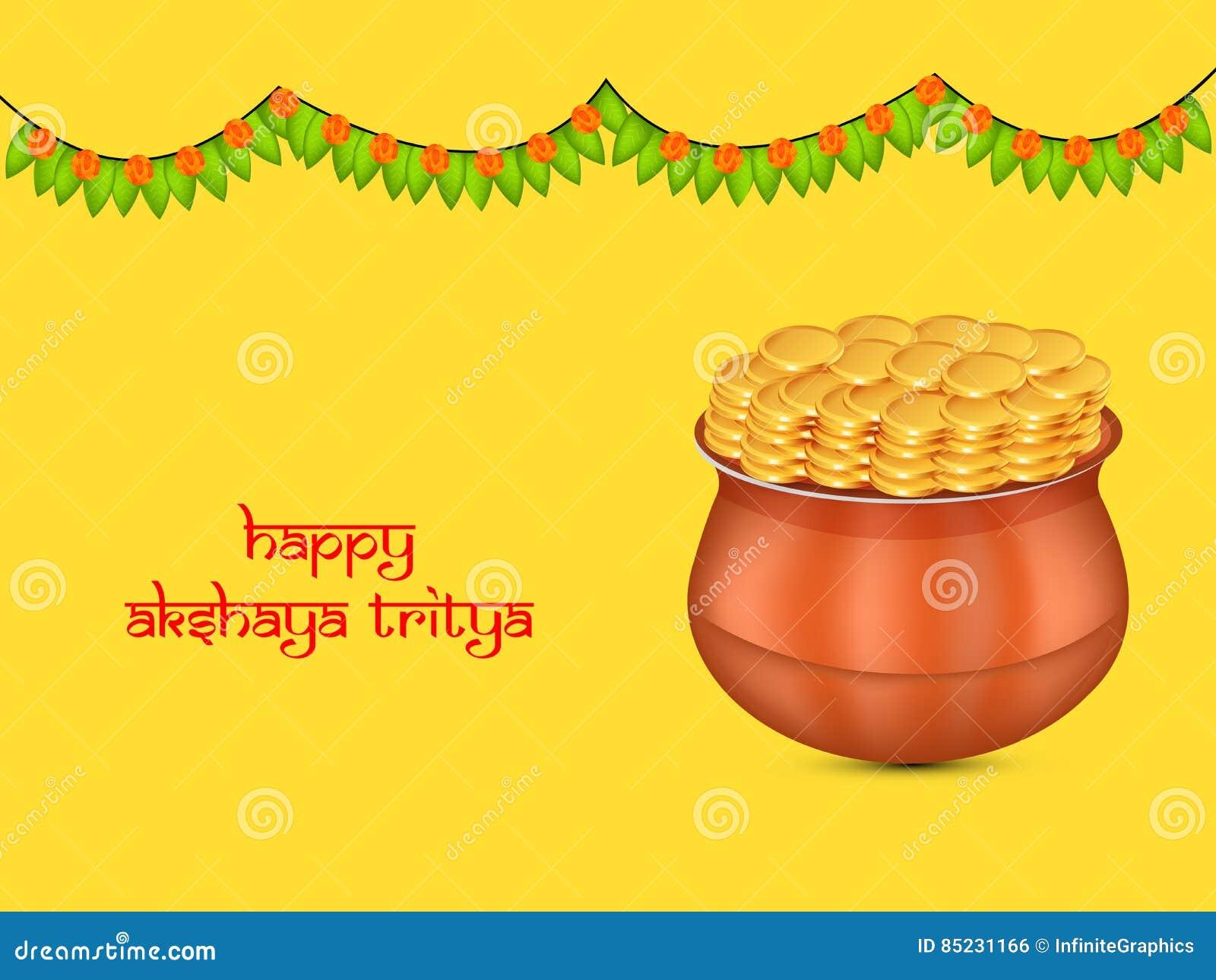 Akshaya Tritiya Background Vector Illustration Cartoondealercom
