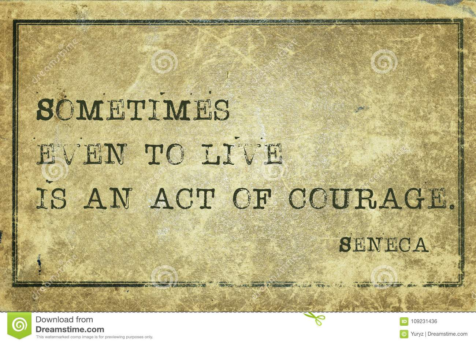 Akt odwaga Seneca